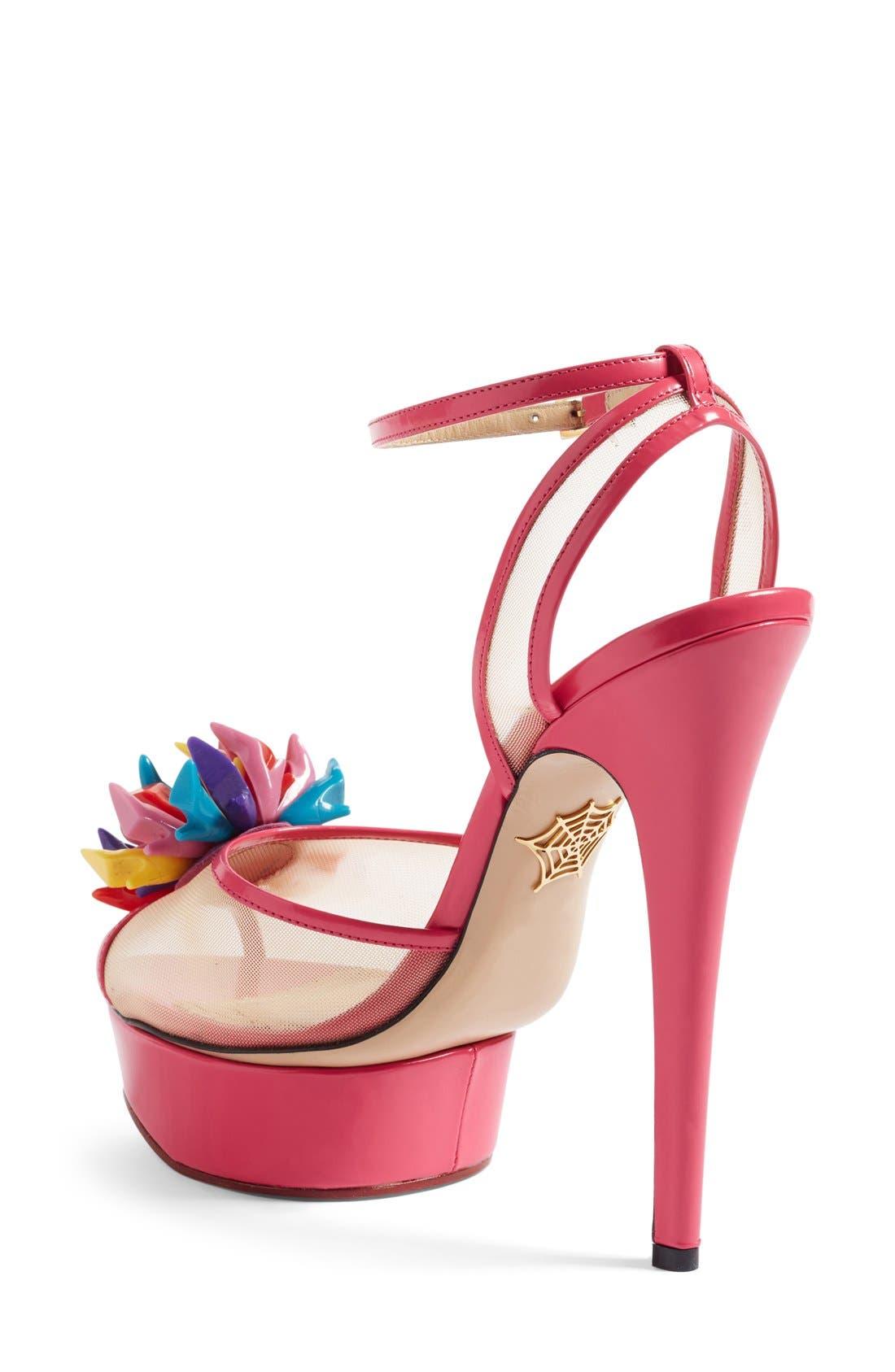Alternate Image 2  - Charlotte Olympia x Barbie® Pomeline Peep Toe Sandal (Women)