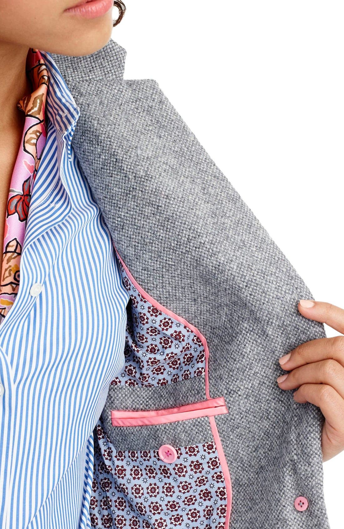 Alternate Image 3  - J.Crew Collection Campbell Donegal Wool Blazer (Regular & Petite)