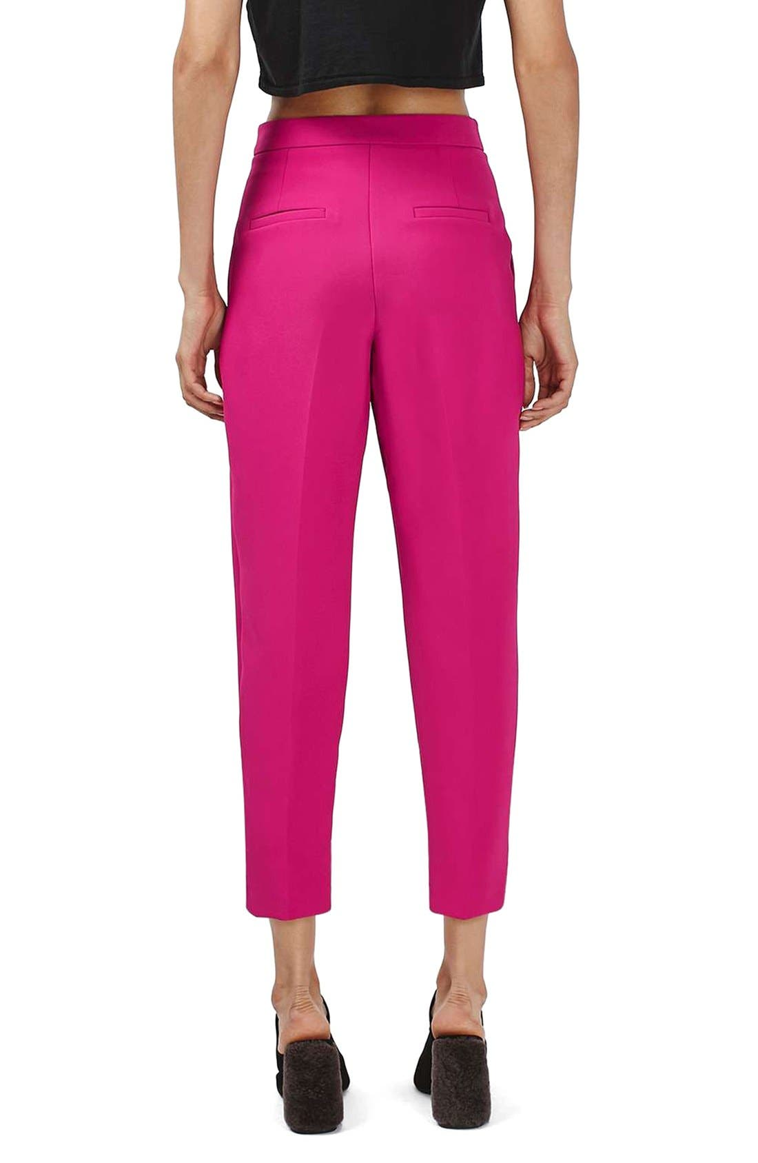 Alternate Image 3  - Topshop Structured Peg Trousers