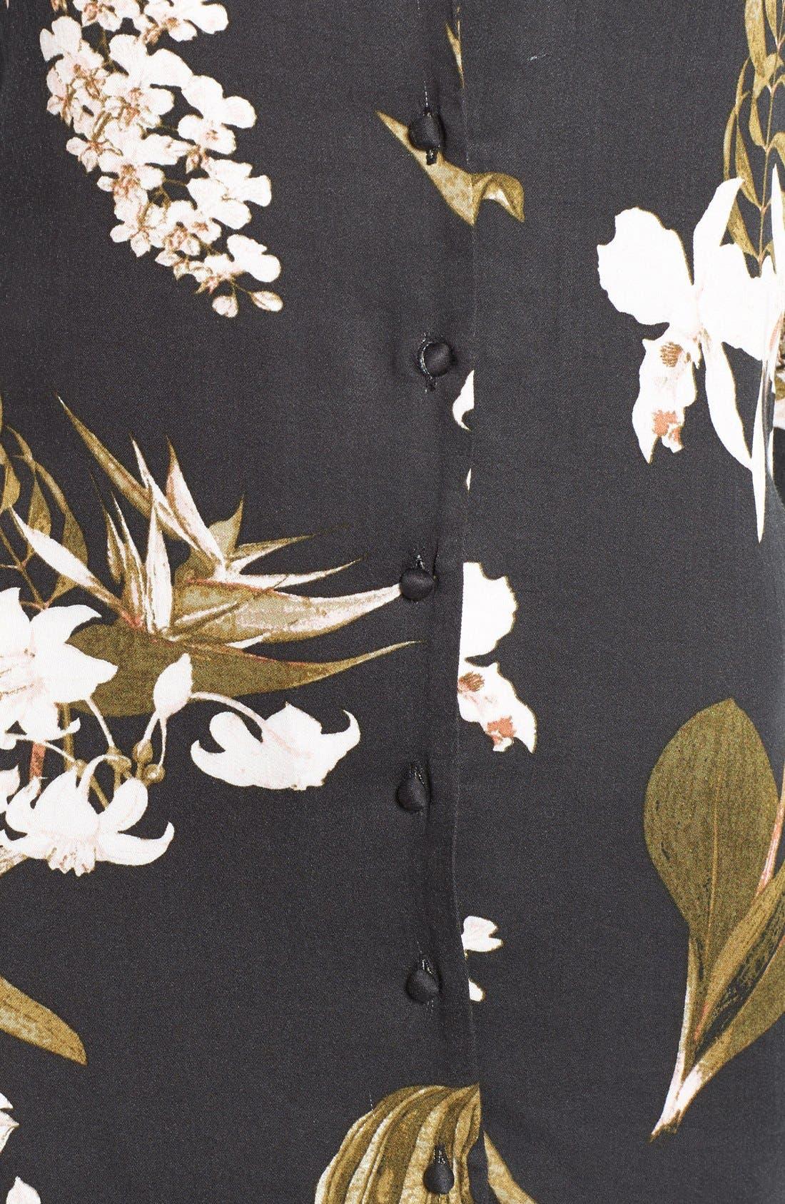 Alternate Image 5  - Somedays Lovin 'Sweet Light' Floral Print Shirtdress