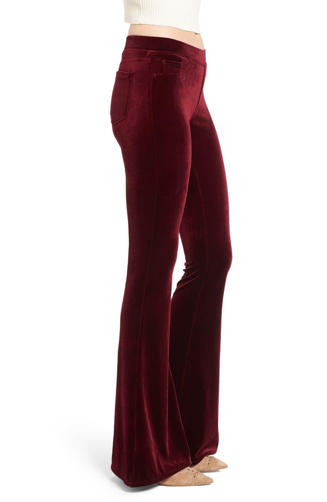 Alternate Image 3  - BLANKNYC Velvet Flare Pants