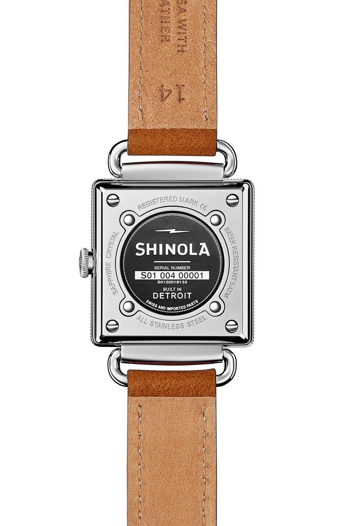 Alternate Image 5  - Shinola Cass Leather Strap Watch, 28mm