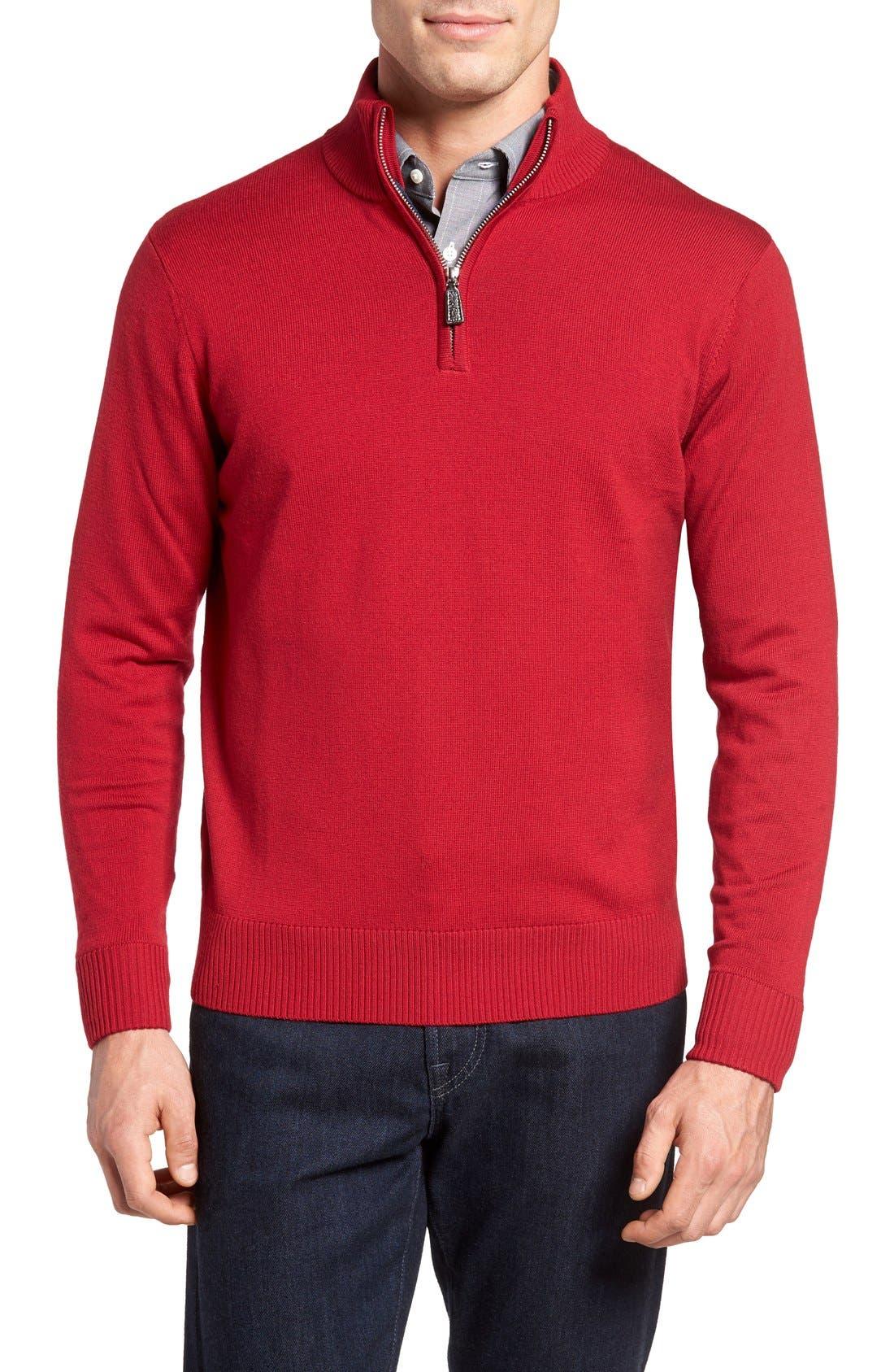 TailorByrd Old Sun Quarter Zip Sweater (Big & Tall)