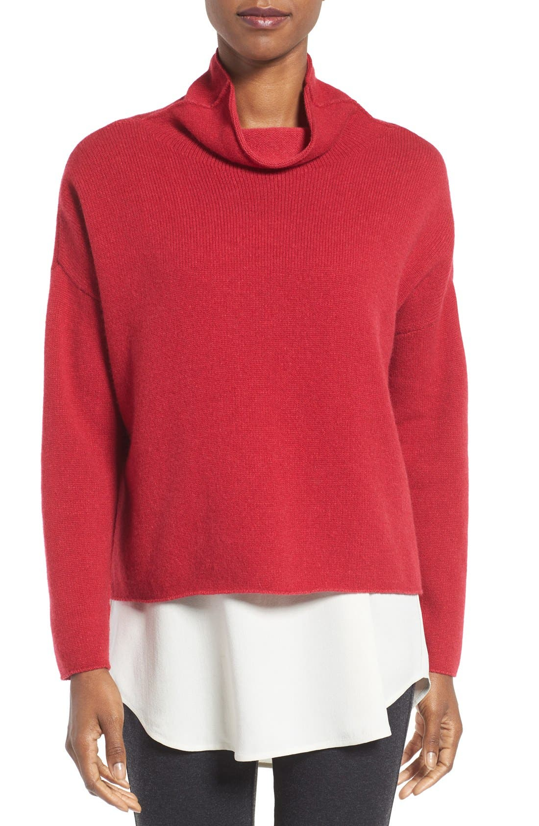 Alternate Image 1 Selected - Eileen Fisher Recycled Cashmere & Lambswool Sweater