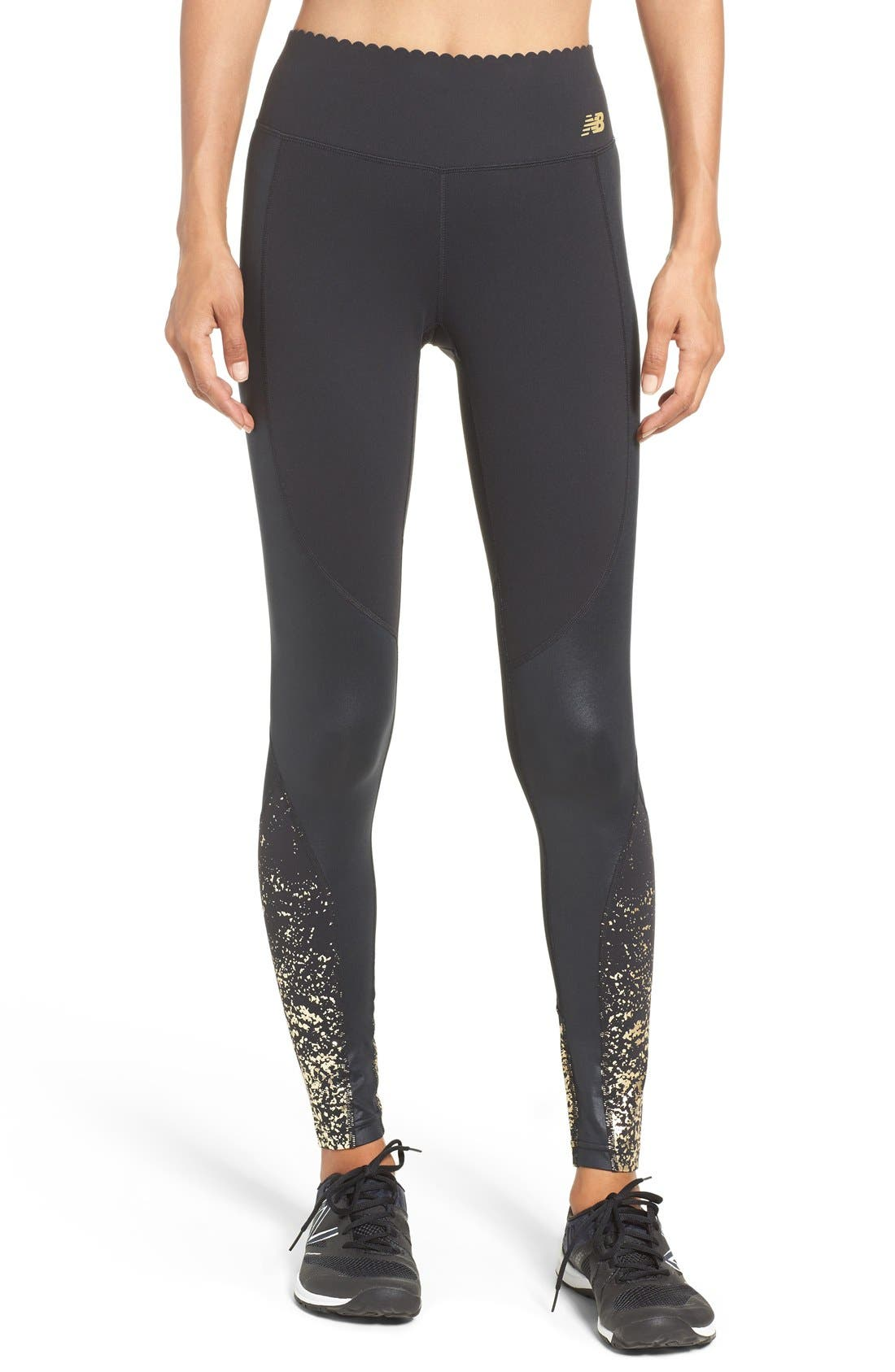 New Balance 'Intensity' Scalloped Waist Tights