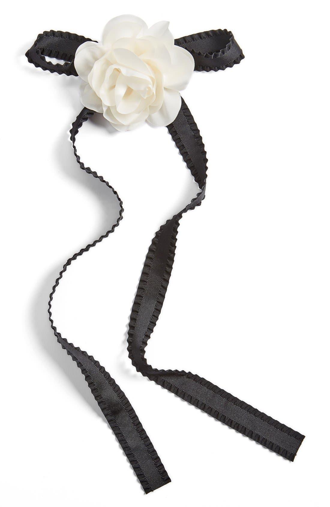 Main Image - Cara Flower & Bow Pin