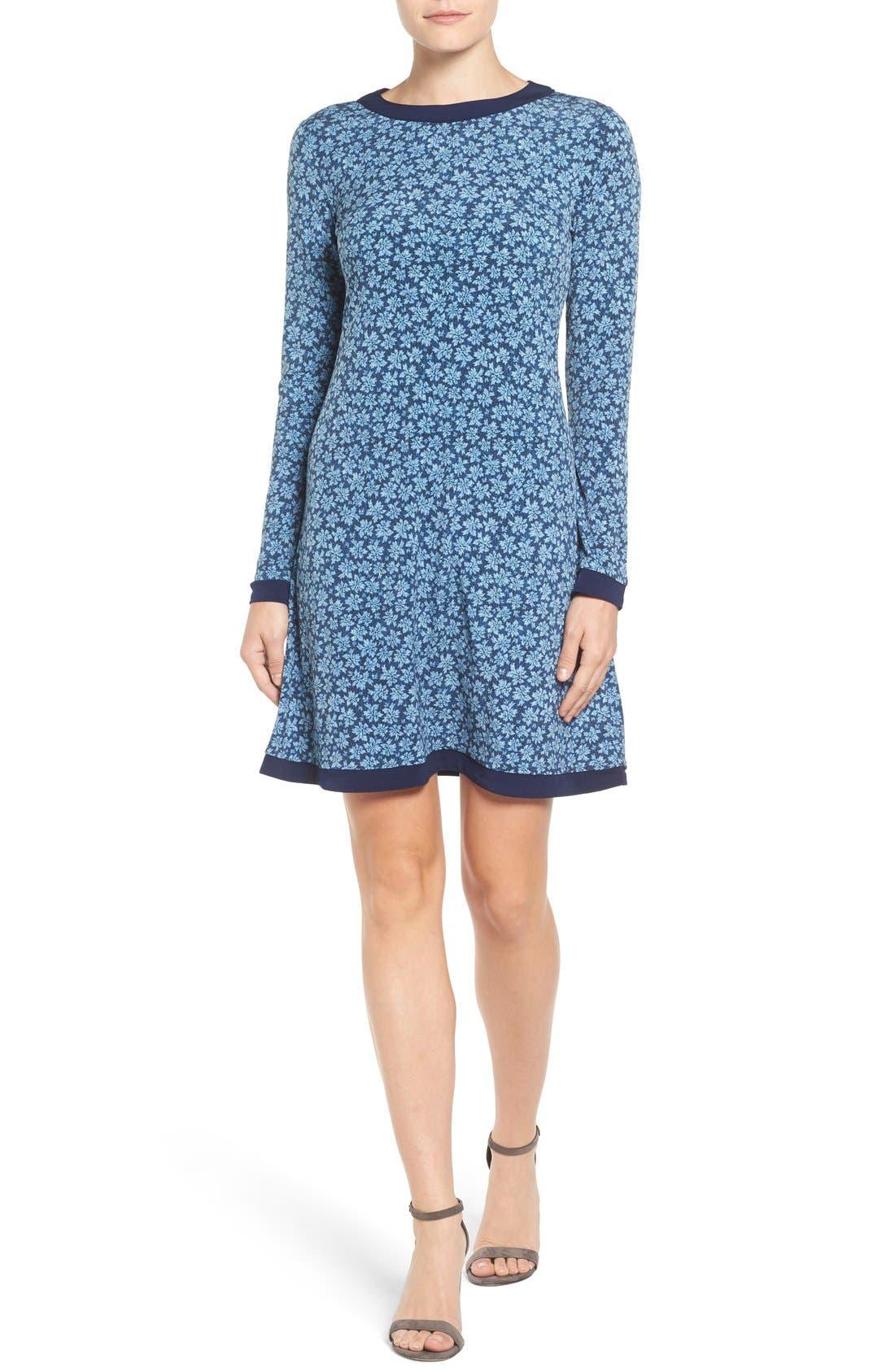 Main Image - MICHAEL Michael Kors Bayeux Print A-Line Dress (Regular & Petite)
