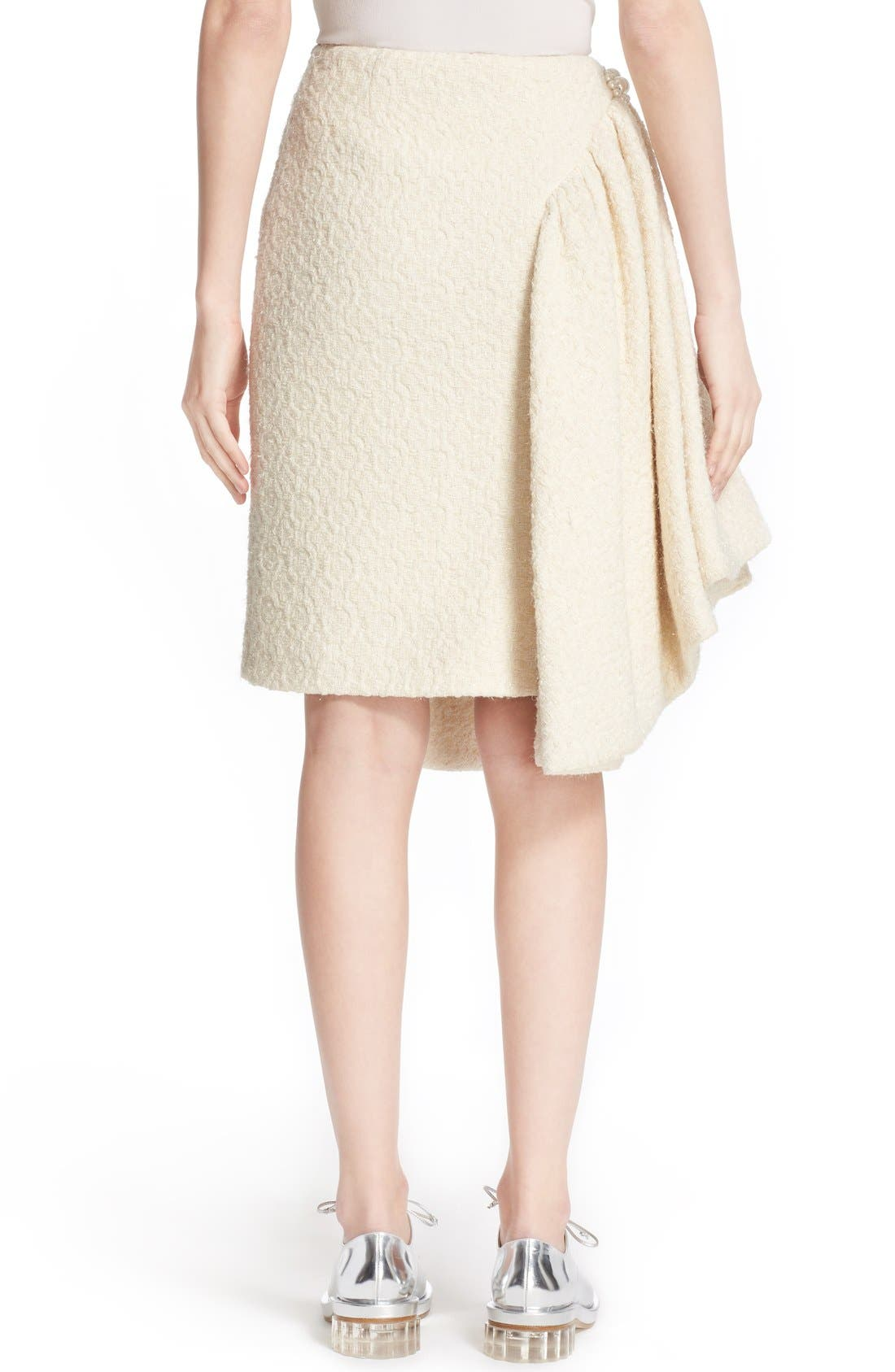 Alternate Image 2  - Simone Rocha Embellished Sparkle Tweed Skirt (Nordstrom Exclusive)