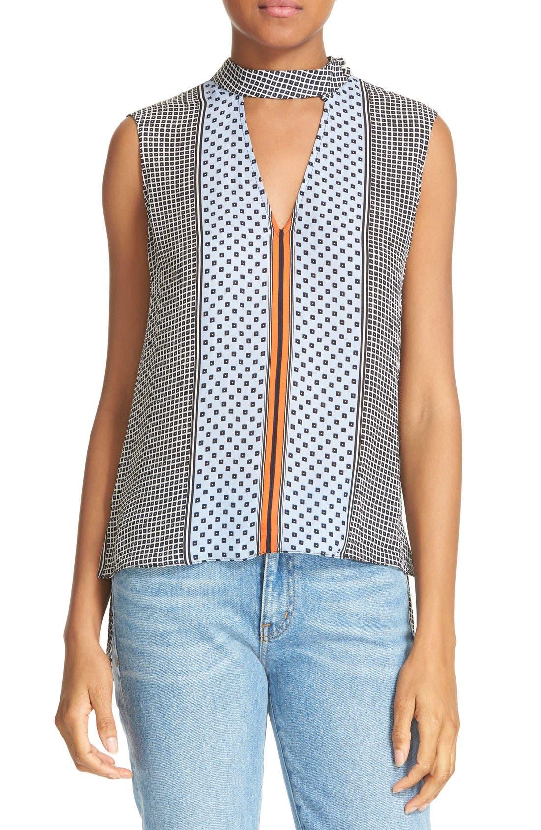 Main Image - Derek Lam 10 Crosby Collar Detail Silk Blouse