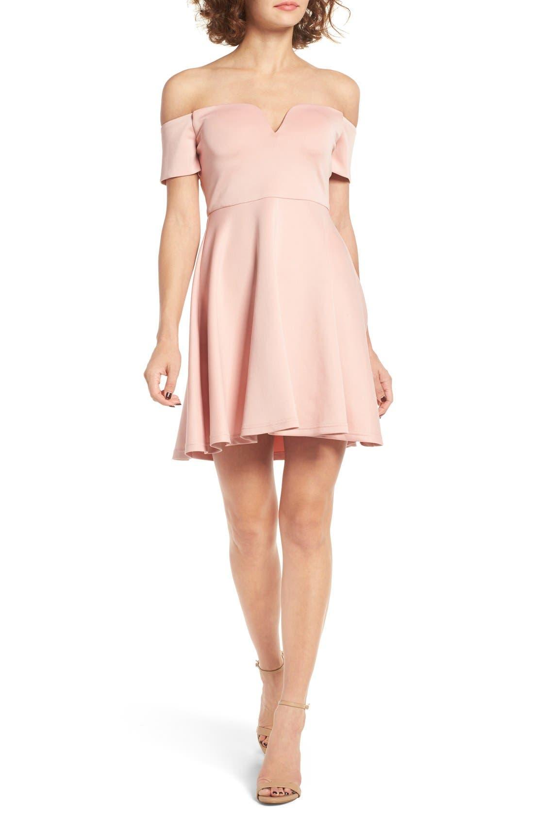 Main Image - Cream & Sugar Sweetheart Off the Shoulder Dress