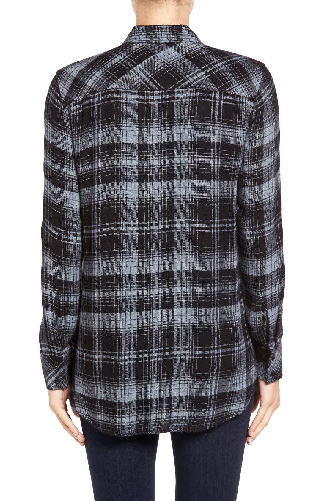 Alternate Image 2  - Side Stitch Plaid Shirt