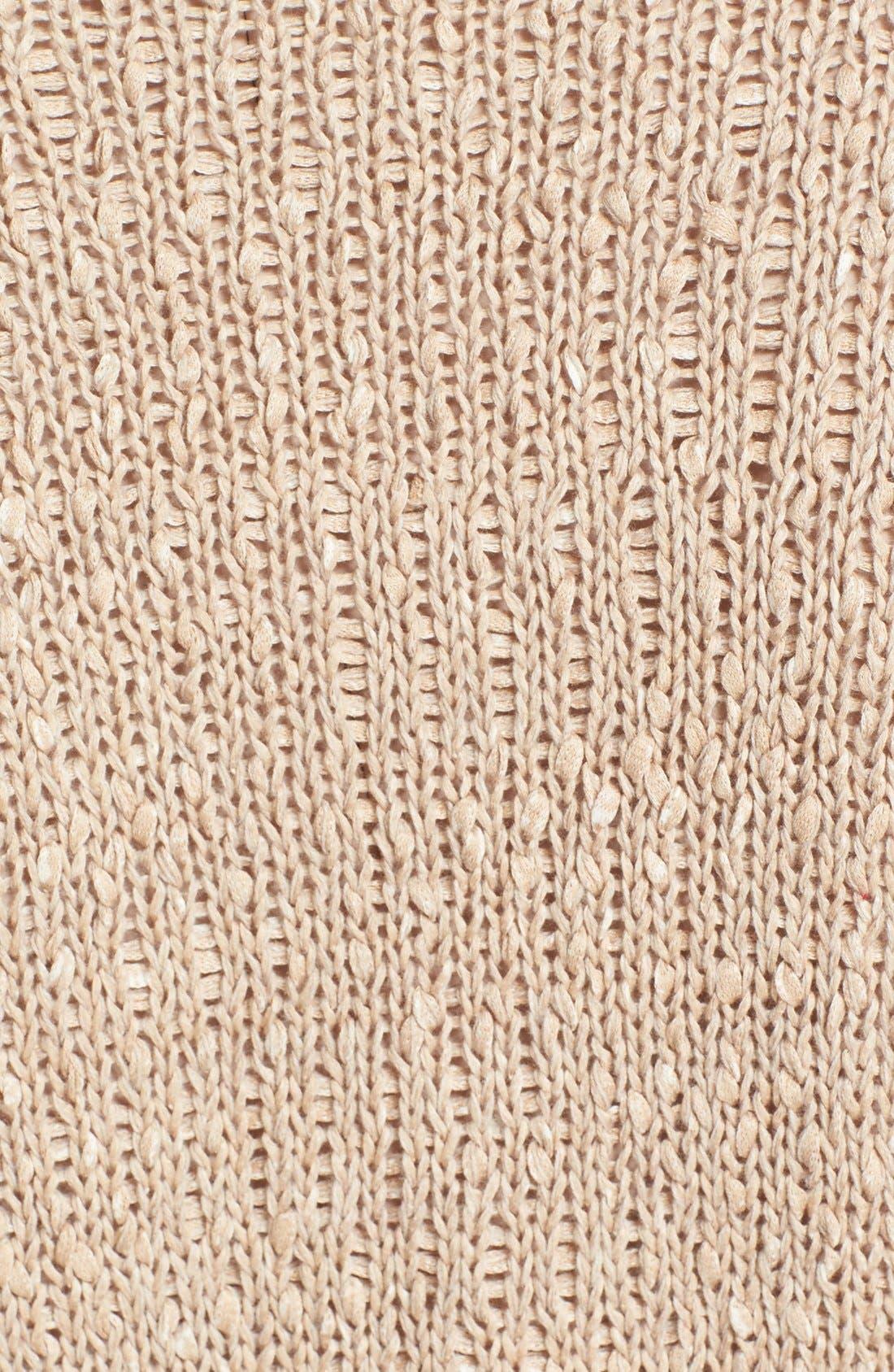 Alternate Image 3  - Fabiana Filippi Mixed Weave Cotton Blend Cardigan