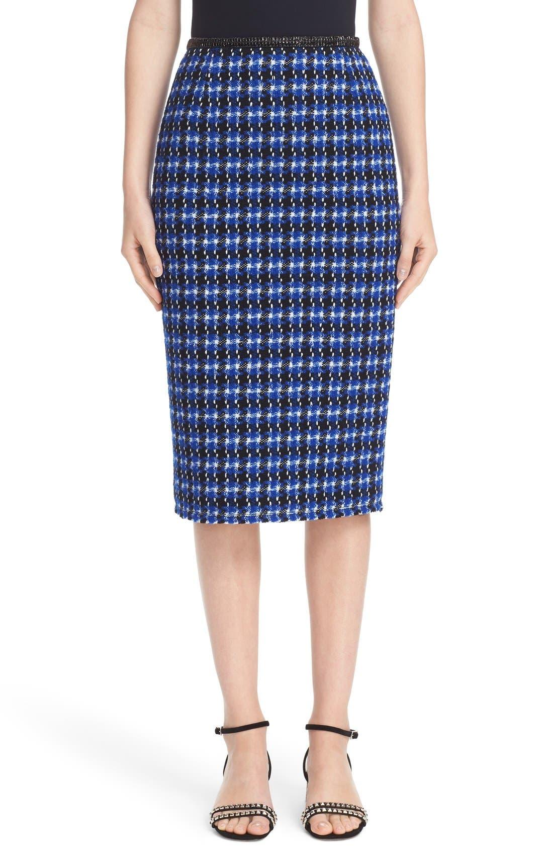 MARC JACOBS Geometric Tweed Pencil Skirt