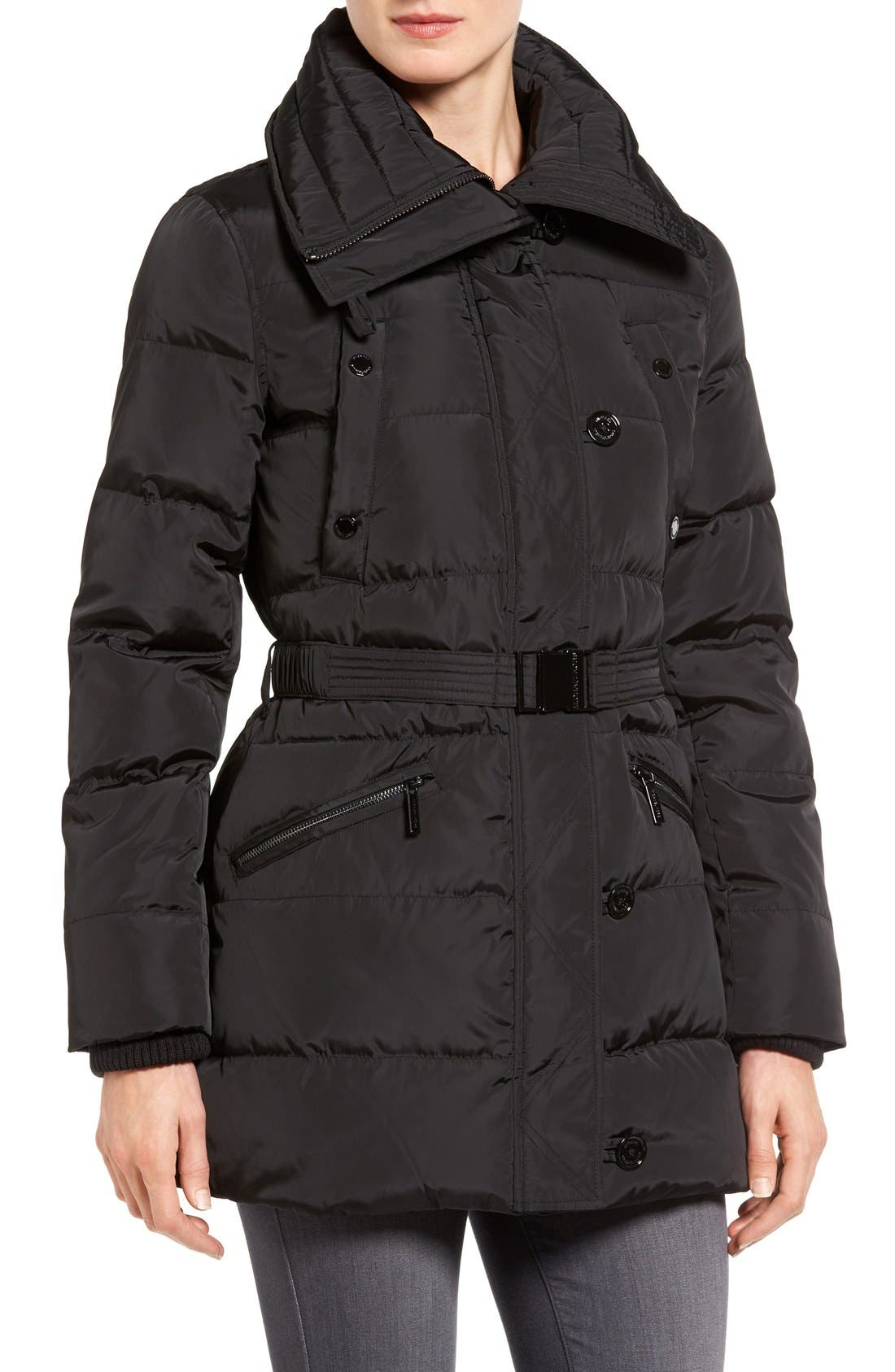 Alternate Image 4  - MICHAEL Michael Kors Faux Fur Trim Belted Down & Feather Fill Parka