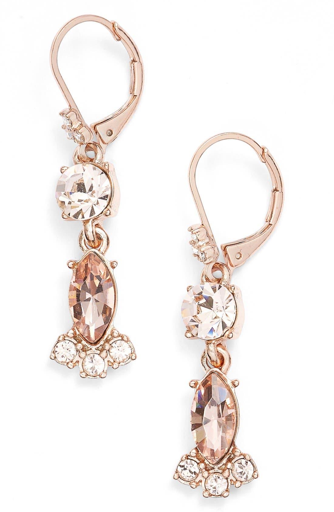 Alternate Image 1 Selected - Marchesa Crystal Drop Earrings