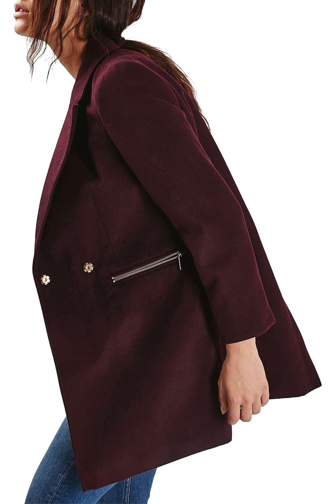 Alternate Image 4  - Topshop 'Meg' Zip Pocket Coat
