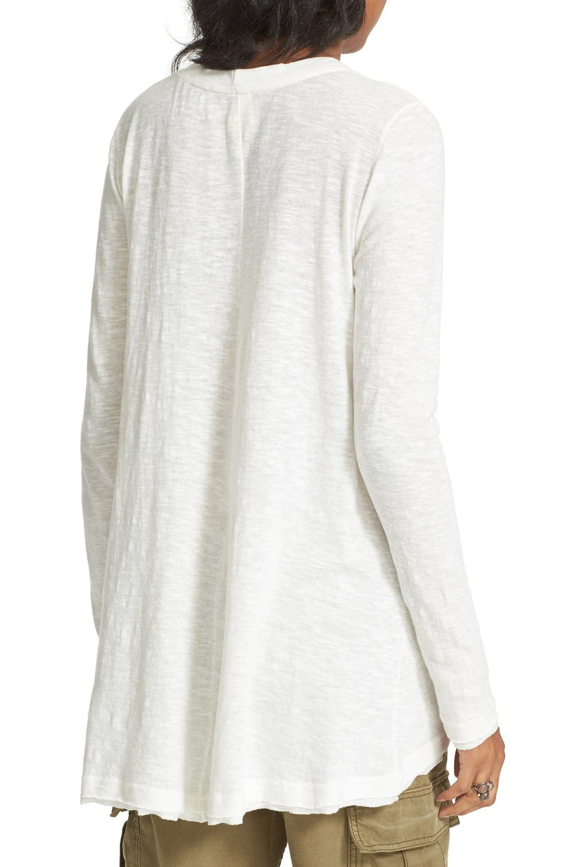 Alternate Image 2  - Free People 'Anna' Burnout High/Low Tee