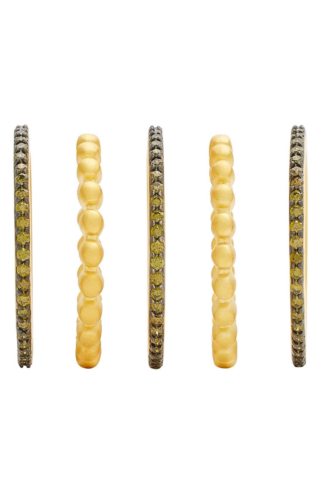Alternate Image 2  - FREIDA ROTHMAN Contemporary Deco Stacking Rings (Set of 5)