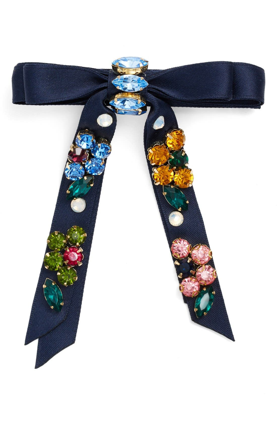Alternate Image 1 Selected - Cara Rhinestone Bow Barrette