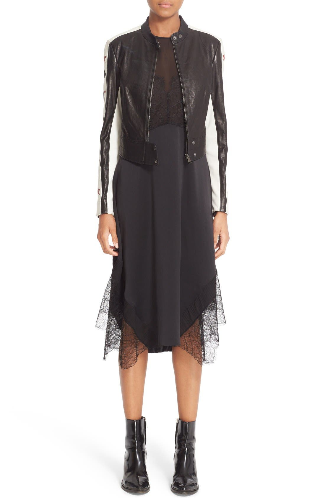 Alternate Image 6  - Belstaff Jasmine Lace Inset Silk Midi Dress