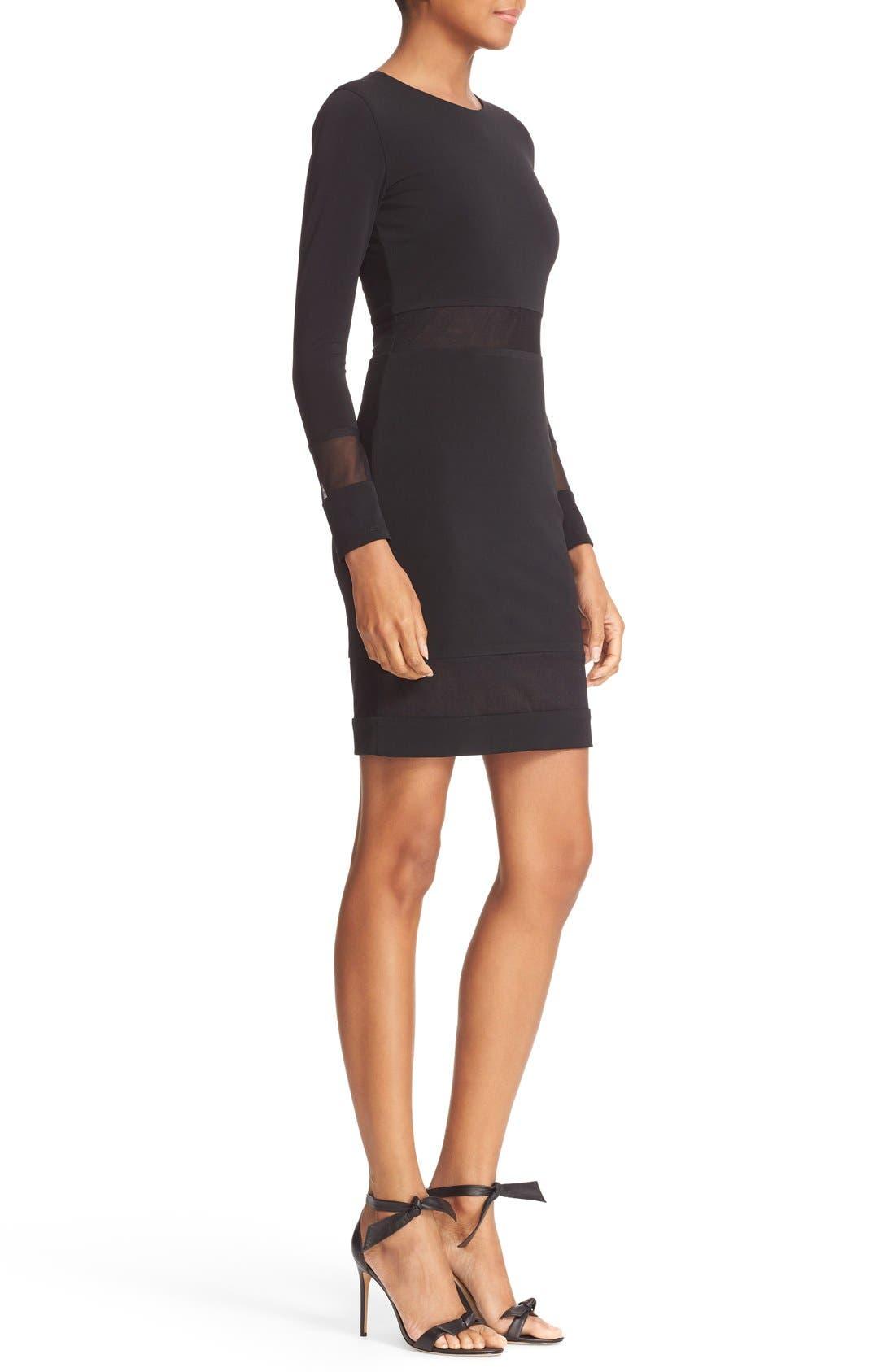 Alternate Image 3  - Alice + Olivia Madie Mesh Panel Body-Con Dress