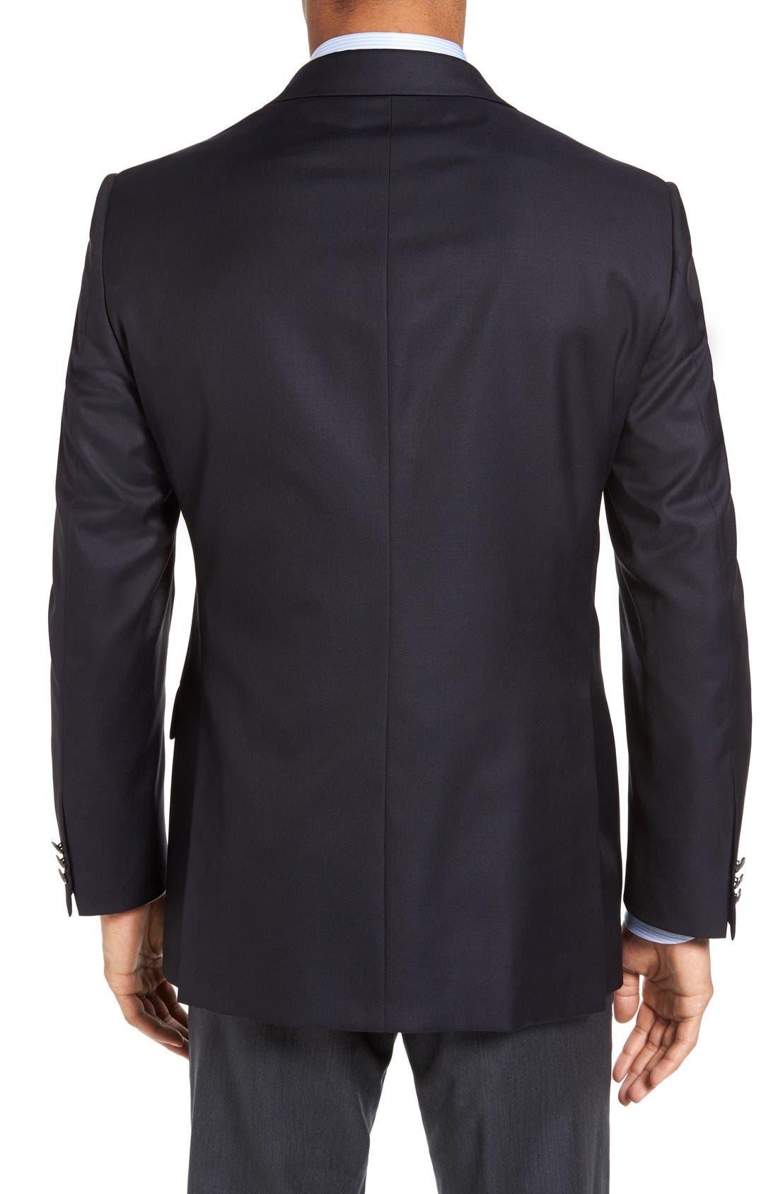 Alternate Image 2  - Hickey Freeman Beacon Classic Fit Wool Travel Blazer