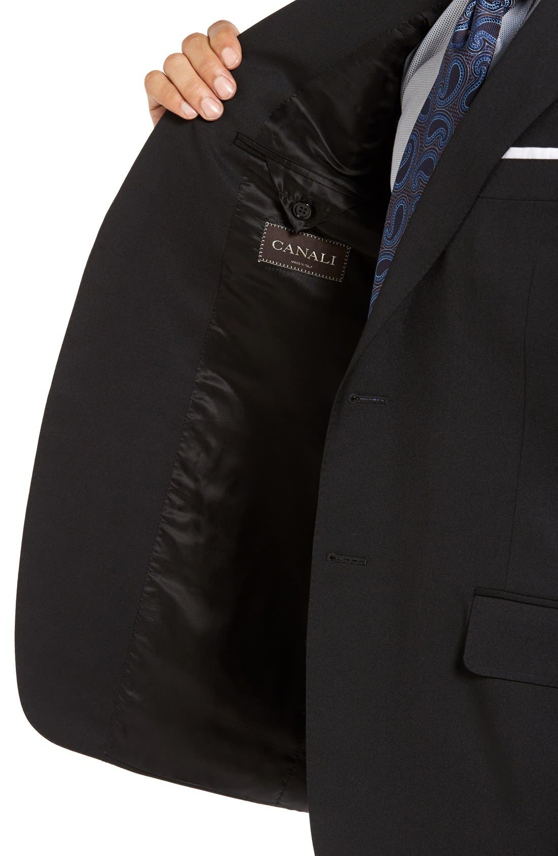 Alternate Image 4  - Canali Trim Fit Solid Wool Suit