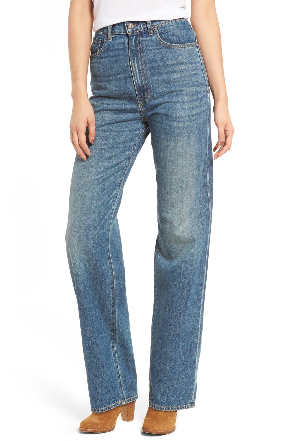 Main Image - imogene + willie High Waist Wide Leg Jeans (Abilene)