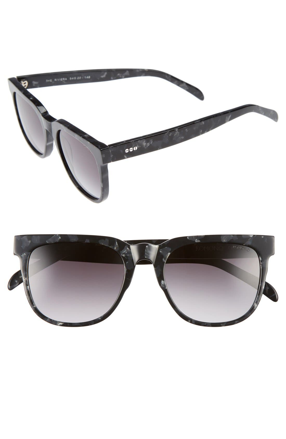 KOMONO Riviera 54mm Rectangular Sunglasses