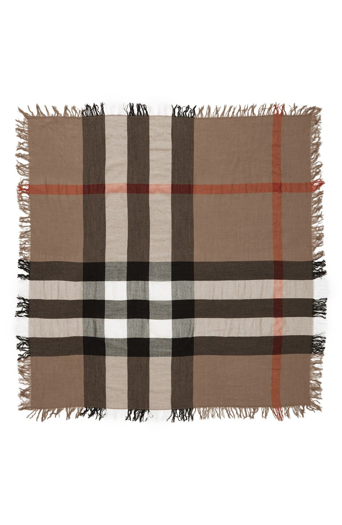 Burberry Check Merino Wool Scarf