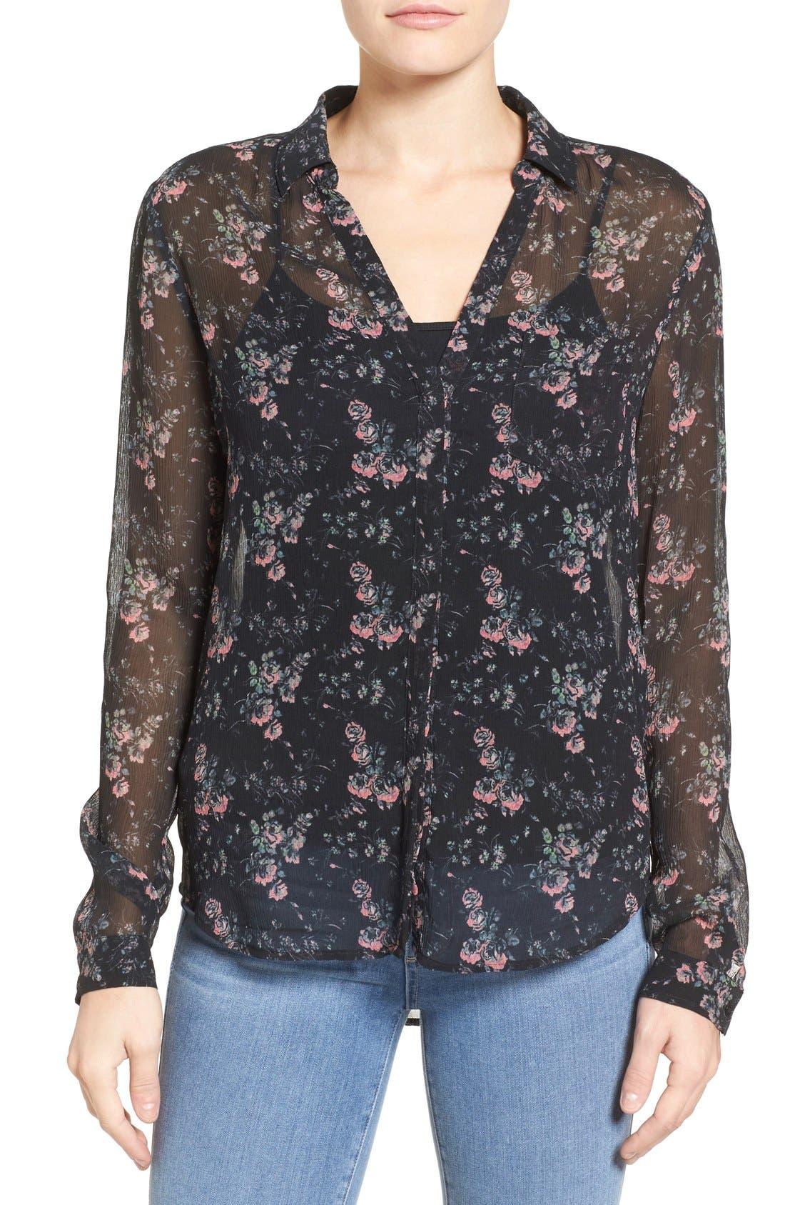 PAIGE Everleigh Silk Shirt