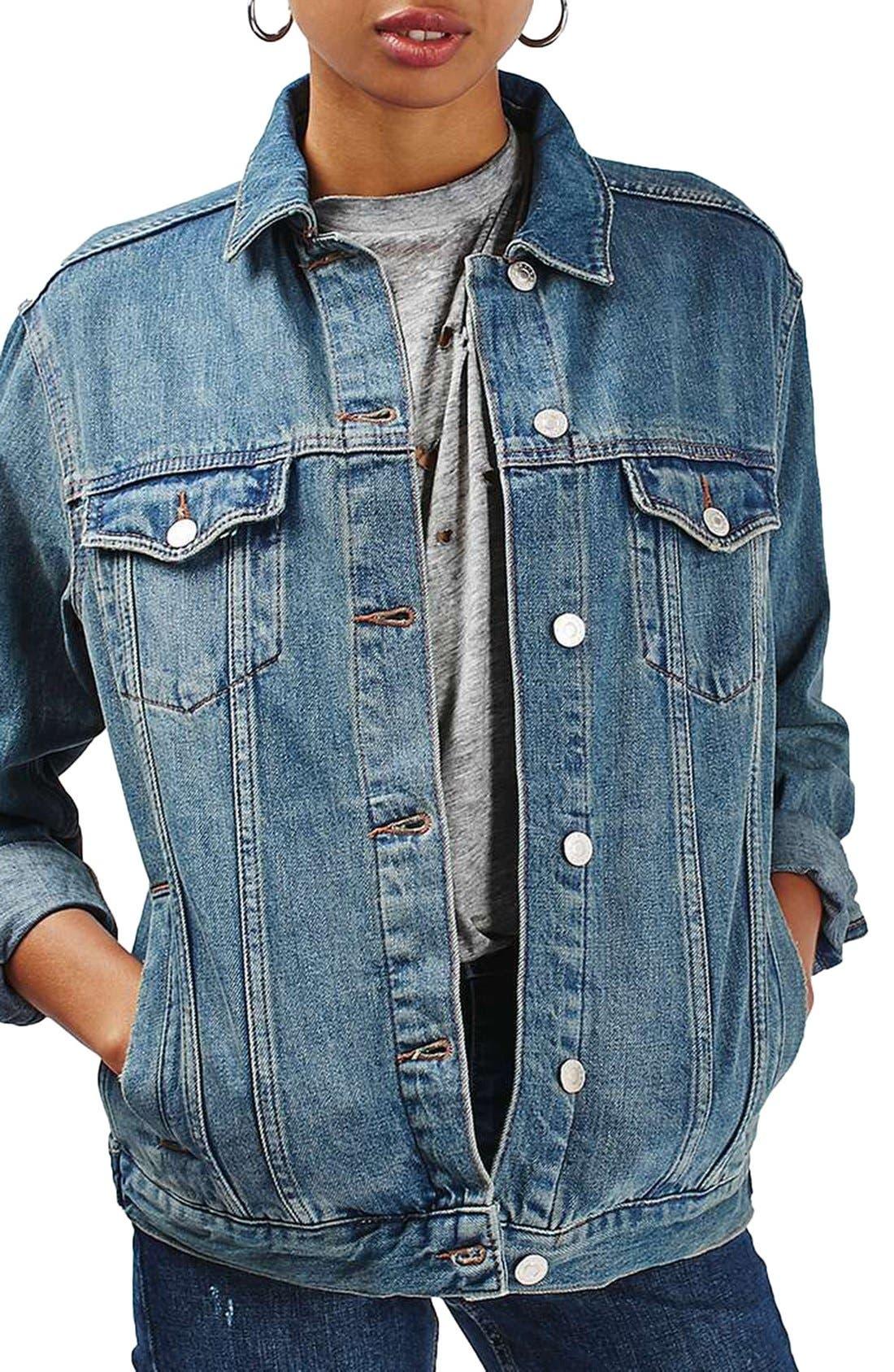 Alternate Image 1 Selected - Topshop Moto Western Denim Jacket