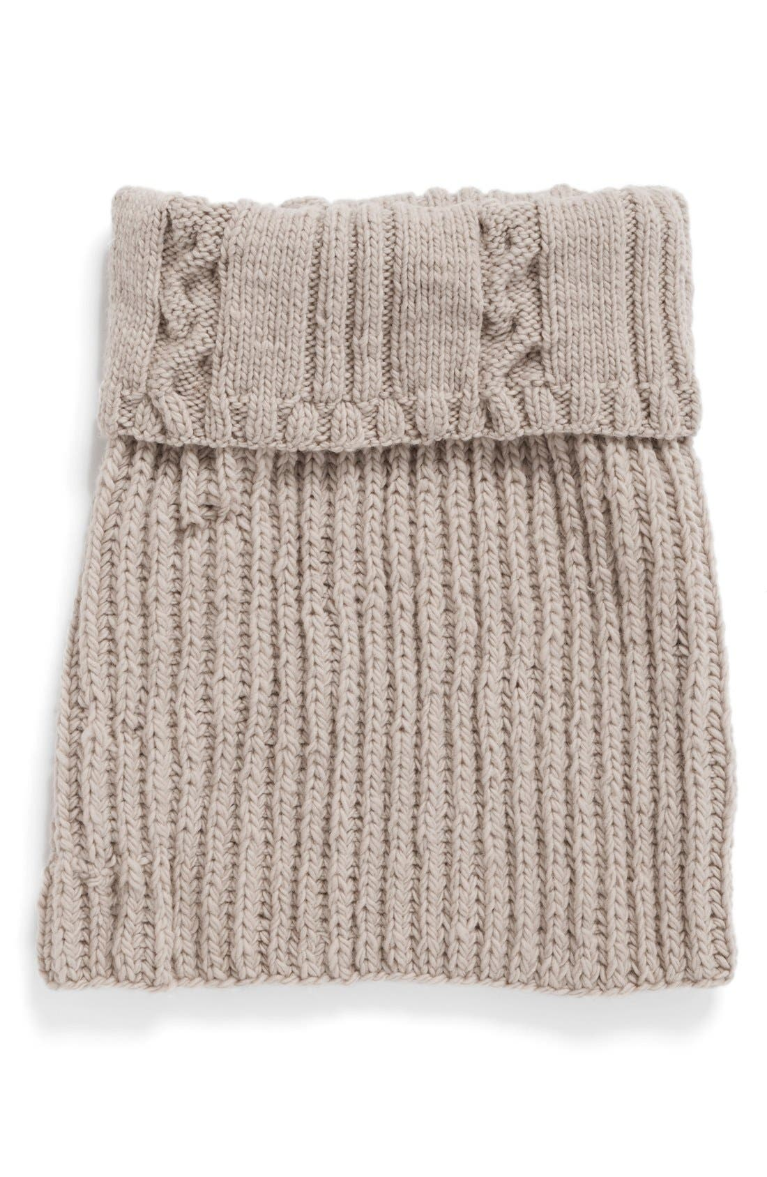 Alternate Image 2  - Nirvanna Designs Oversize Cable Knit Wool Infinity Scarf