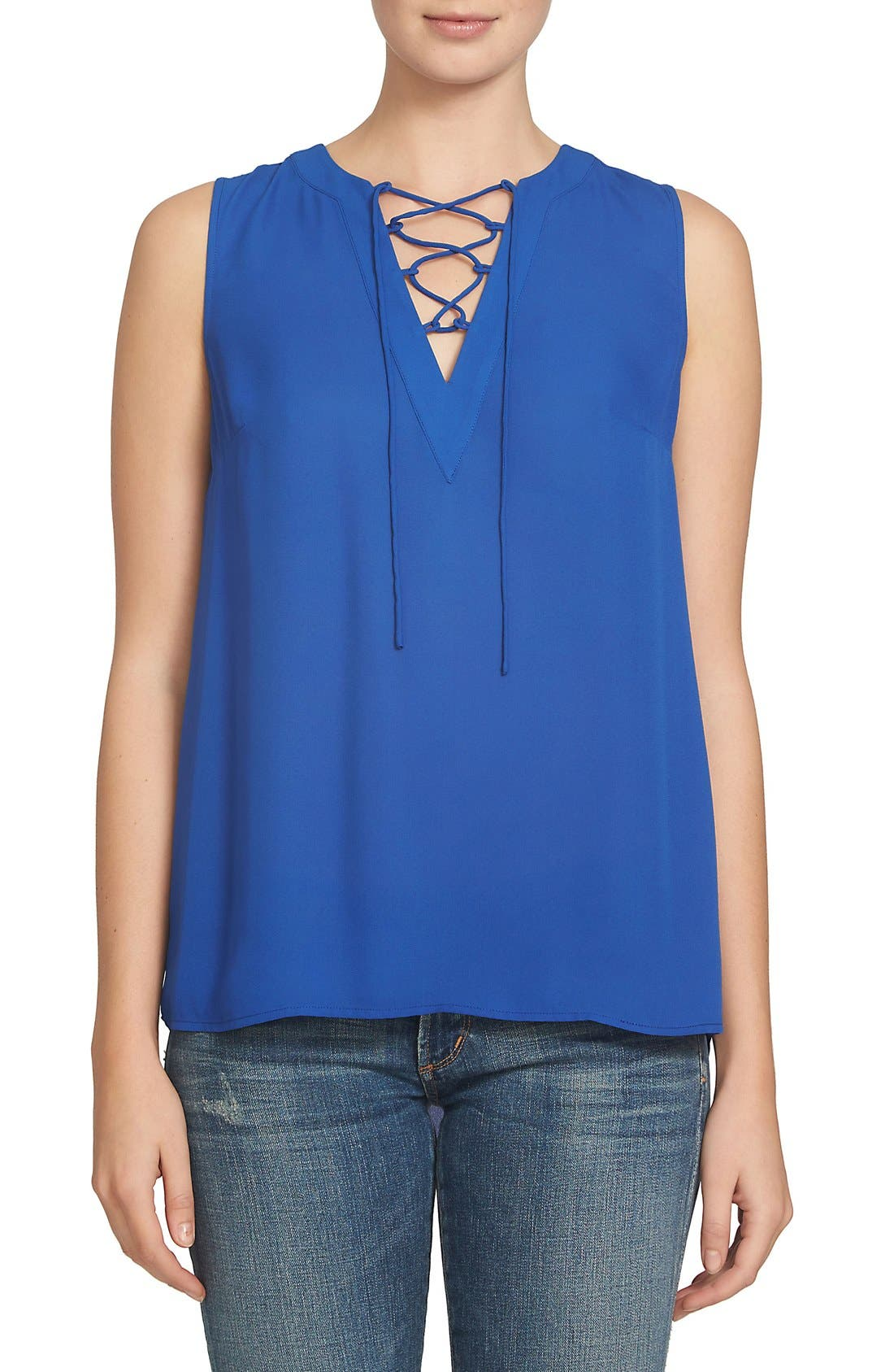 Alternate Image 1 Selected - 1.STATE Lace-Up Blouse