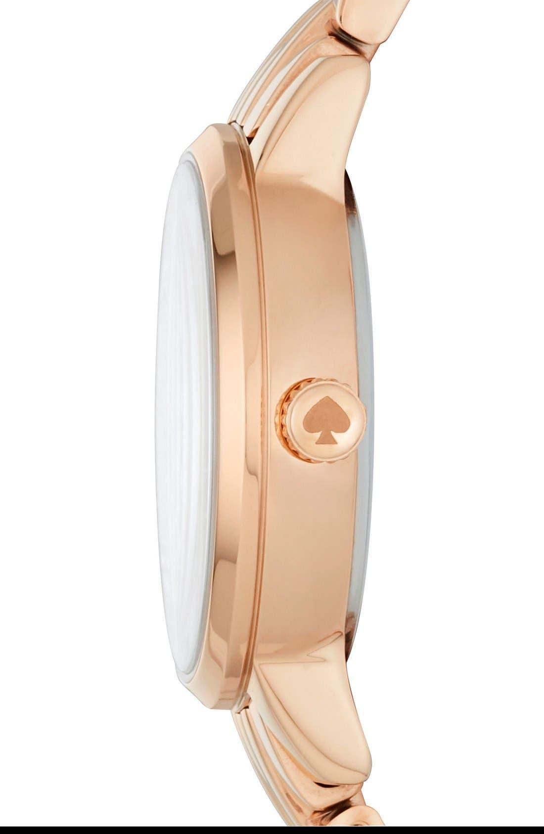 Alternate Image 2  - kate spade new york mini monterey glitz bracelet watch, 24mm