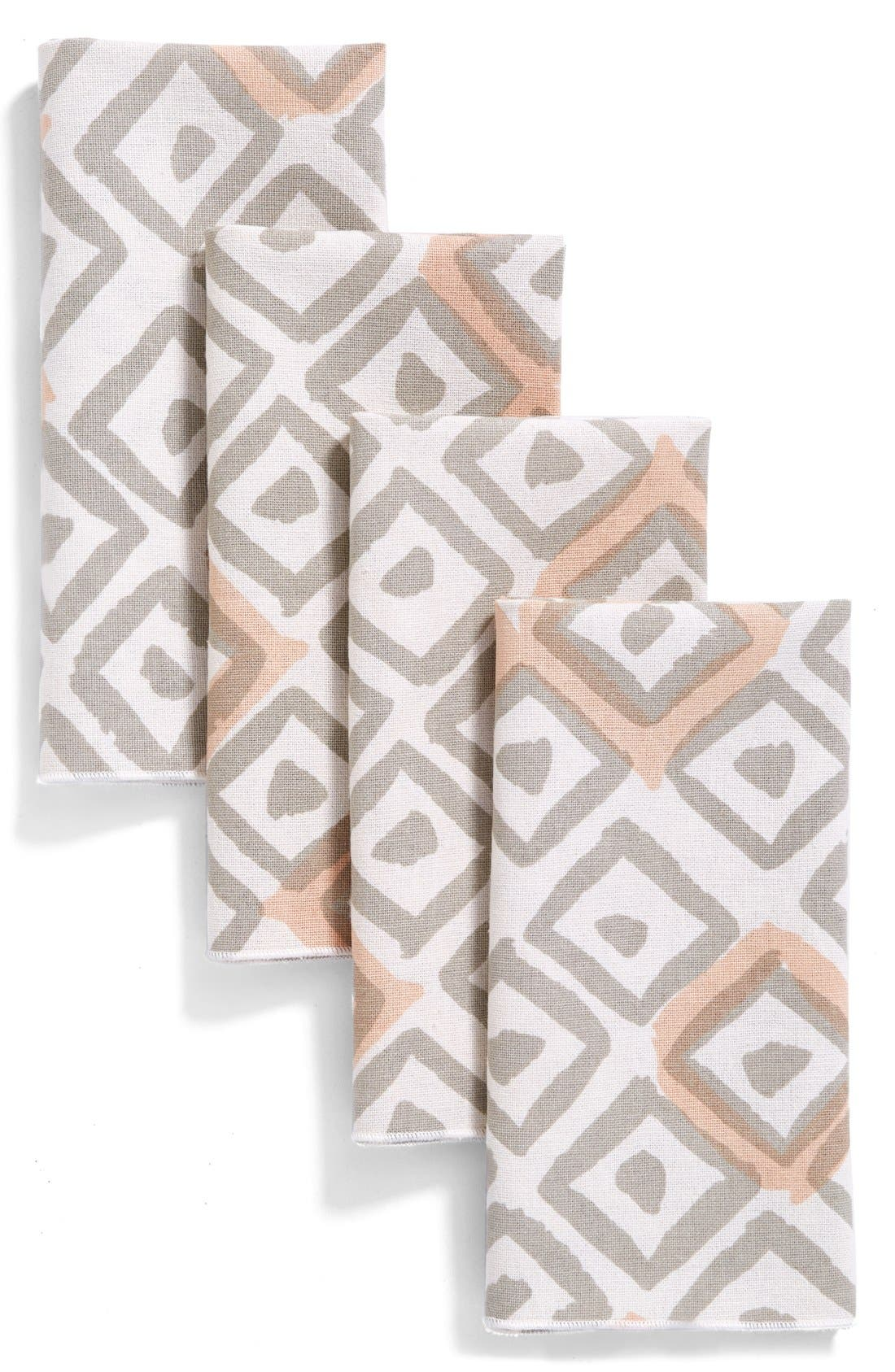 MINTED Painted Diamond Set of 4Cotton Napkins