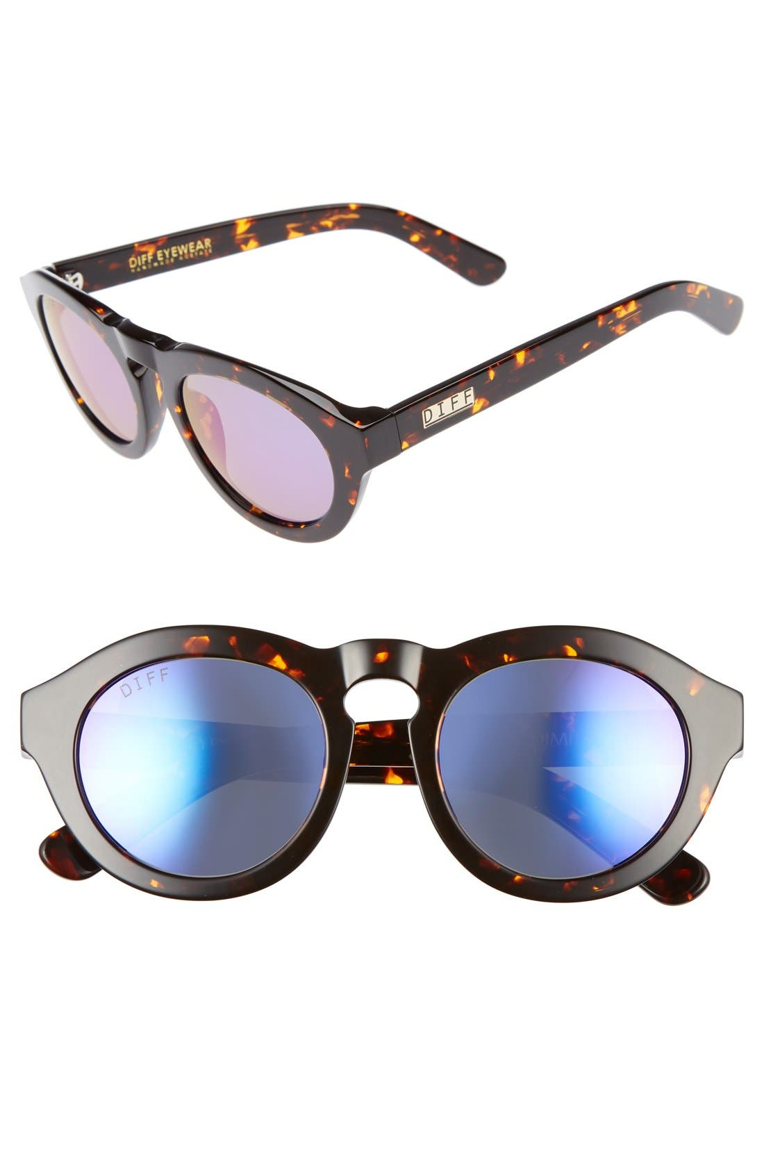 DIFF Dime 48mm Retro Sunglasses