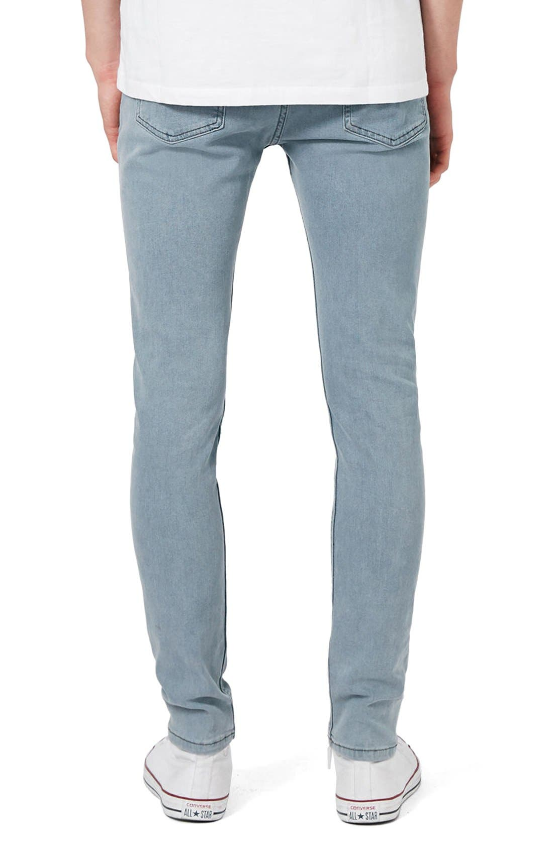 Alternate Image 3  - Topman Stretch Skinny Fit Jeans