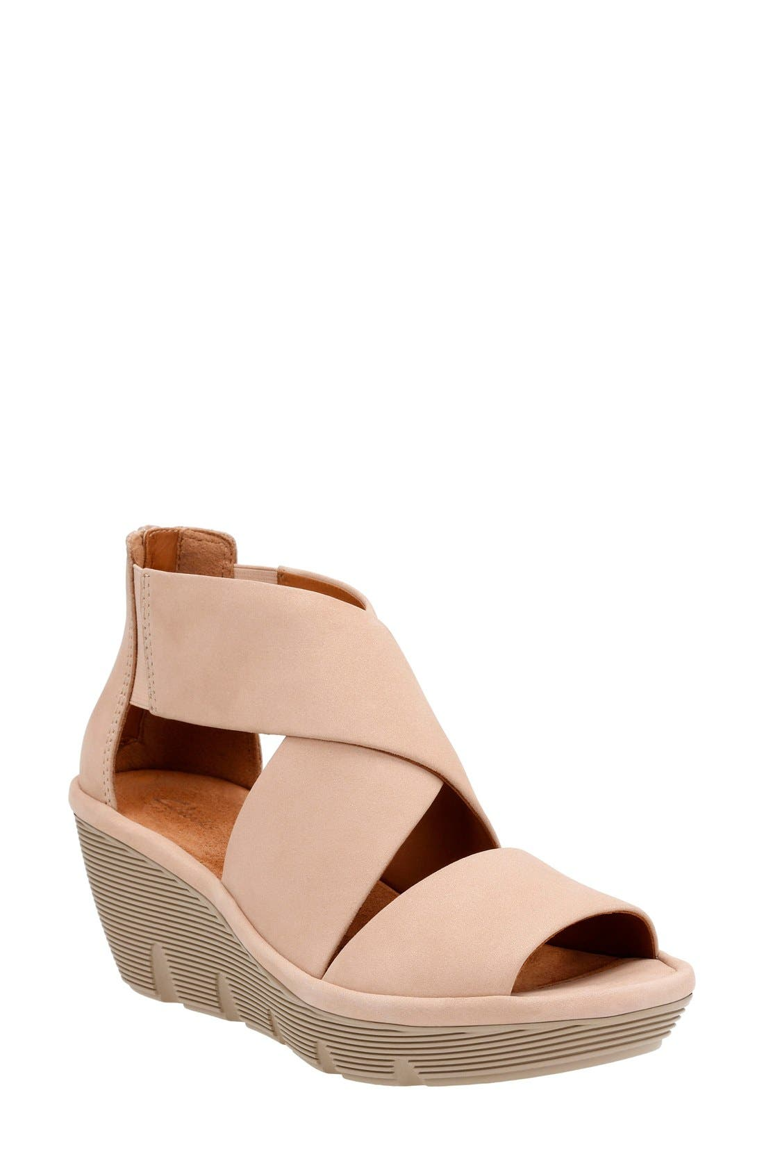 Clarks® Clarene Glamor Wedge Sandal (Women)