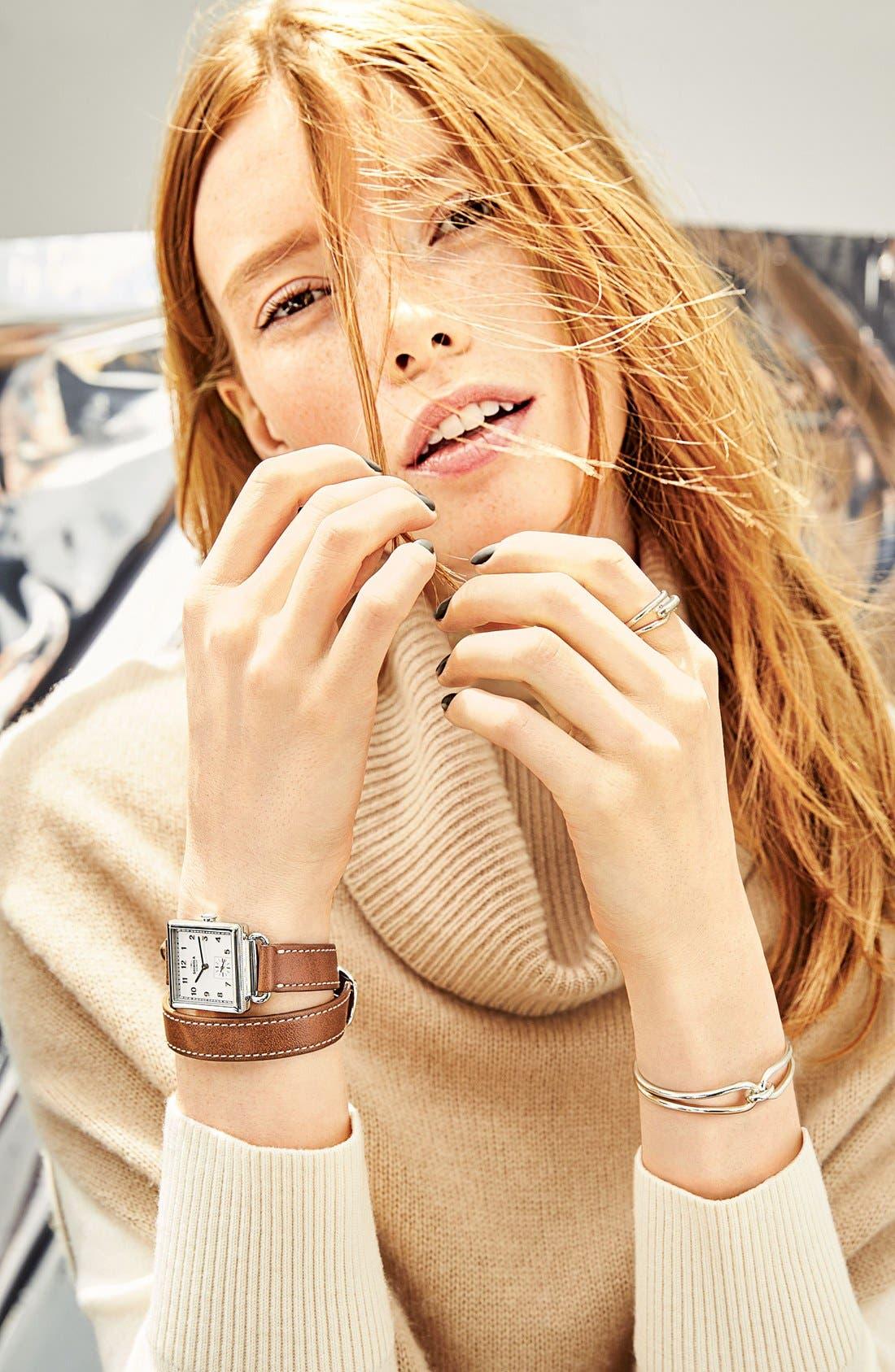 Alternate Image 7  - Shinola Cass Leather Strap Watch, 28mm