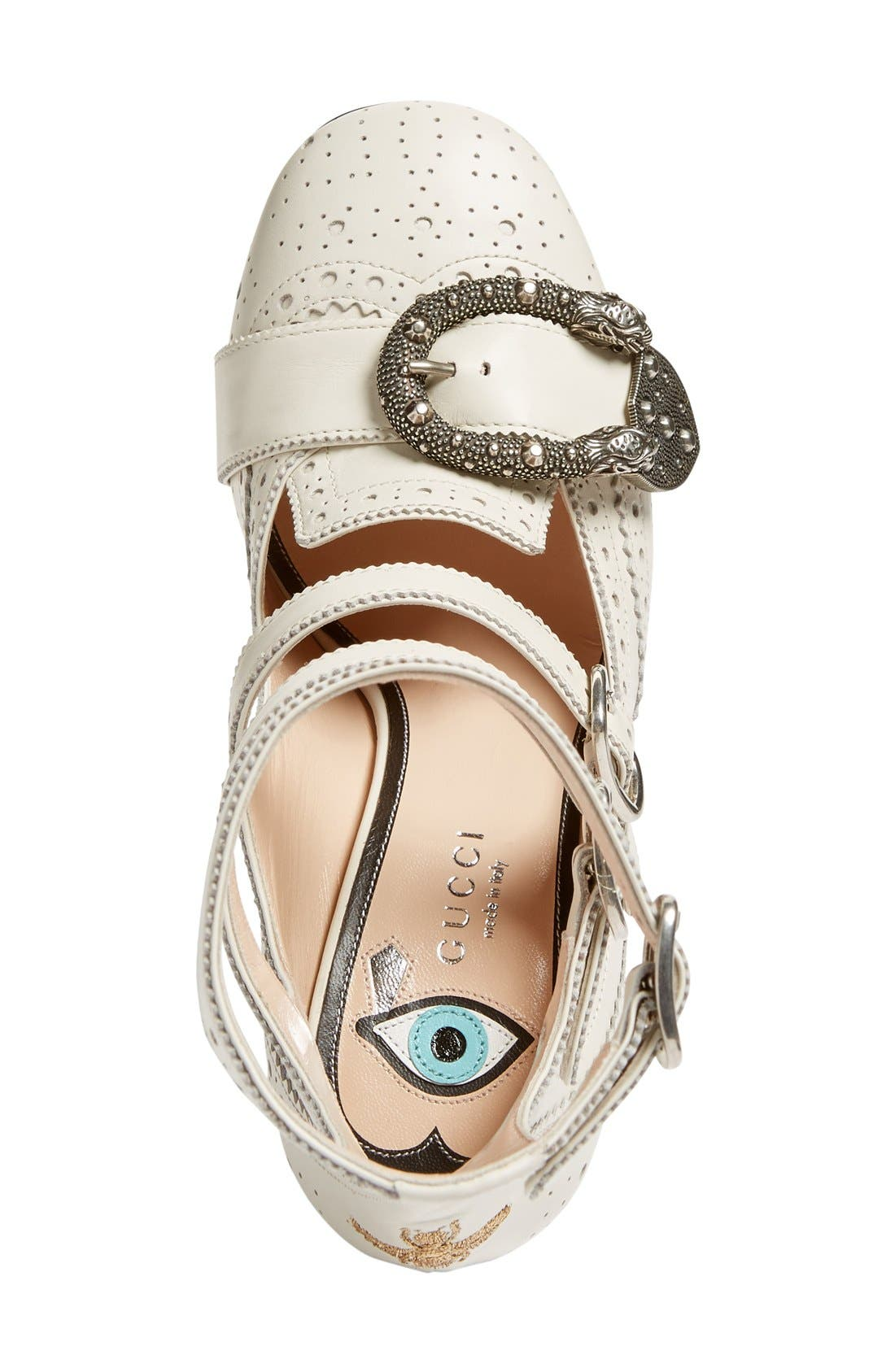 Alternate Image 3  - Gucci Queercore Embellished Gladiator Pump (Women)