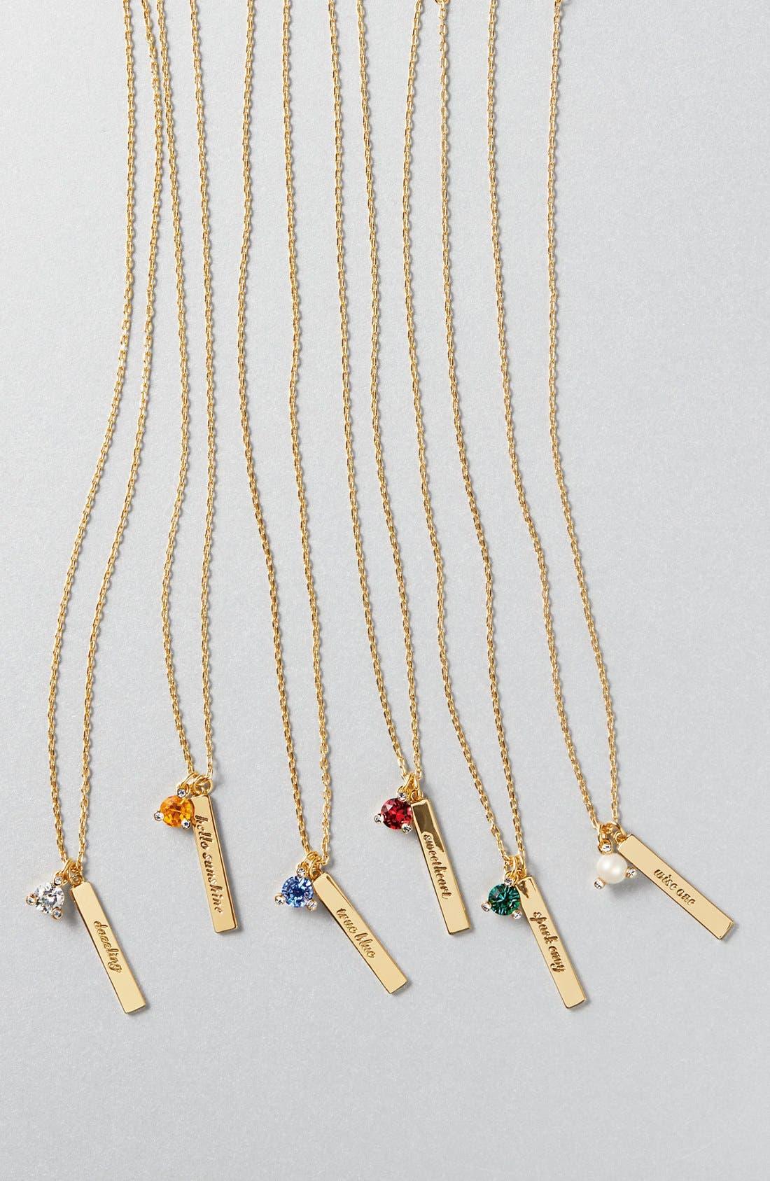 Alternate Image 3  - kate spade new york born to be pendant necklace