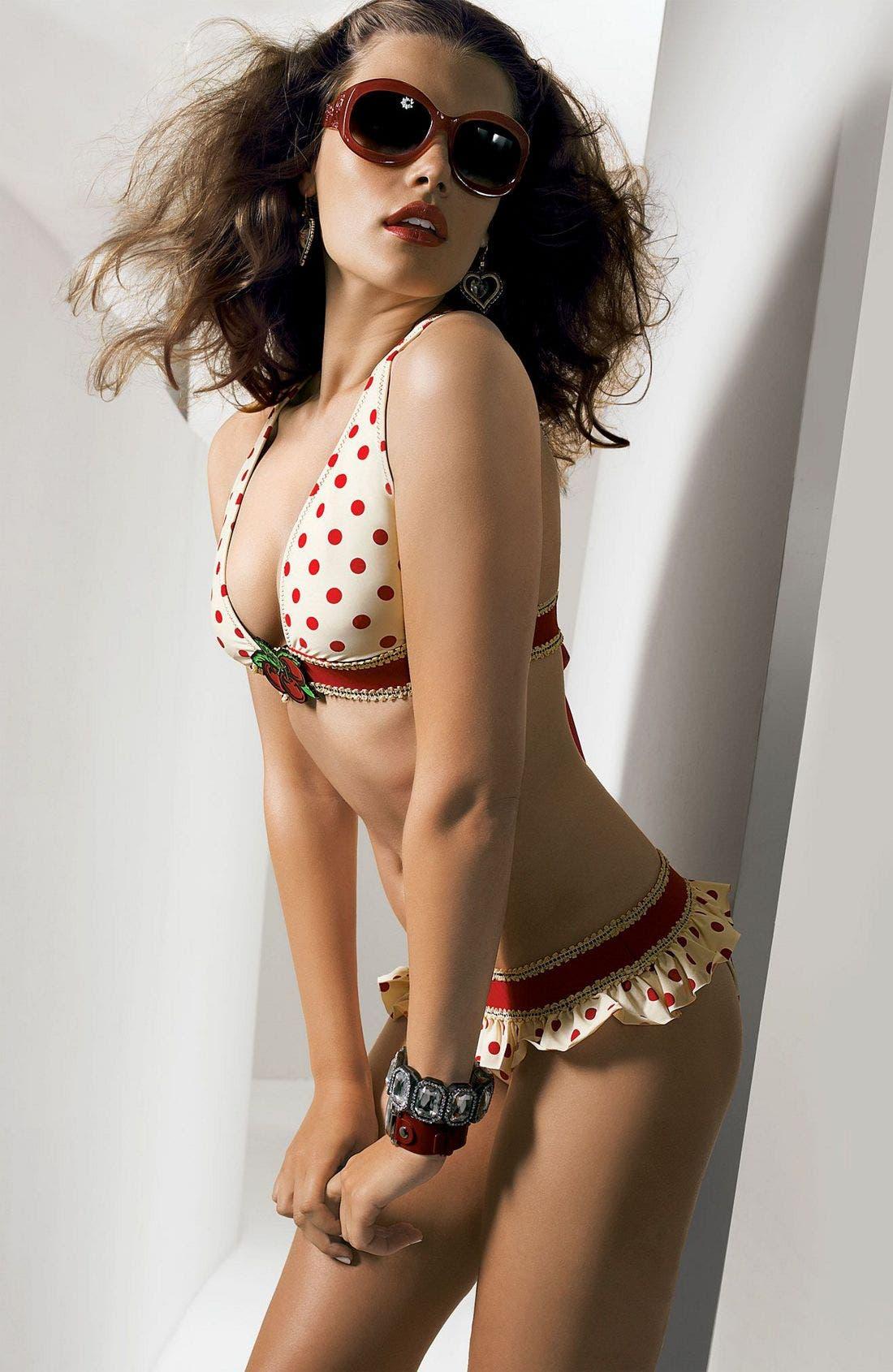 Alternate Image 2  - Betsey Johnson 'Hot Dot' Brazilian Skirted Bottoms