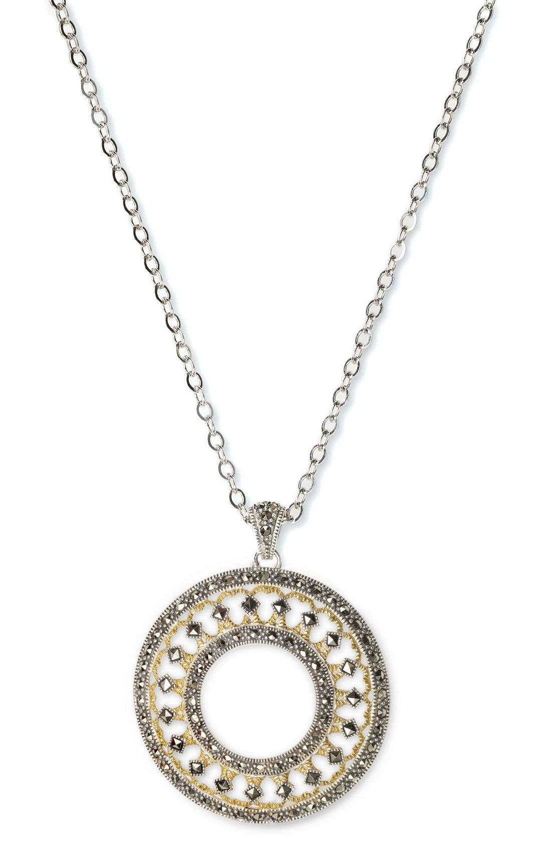 Alternate Image 1 Selected - Judith Jack Circle Medallion Necklace
