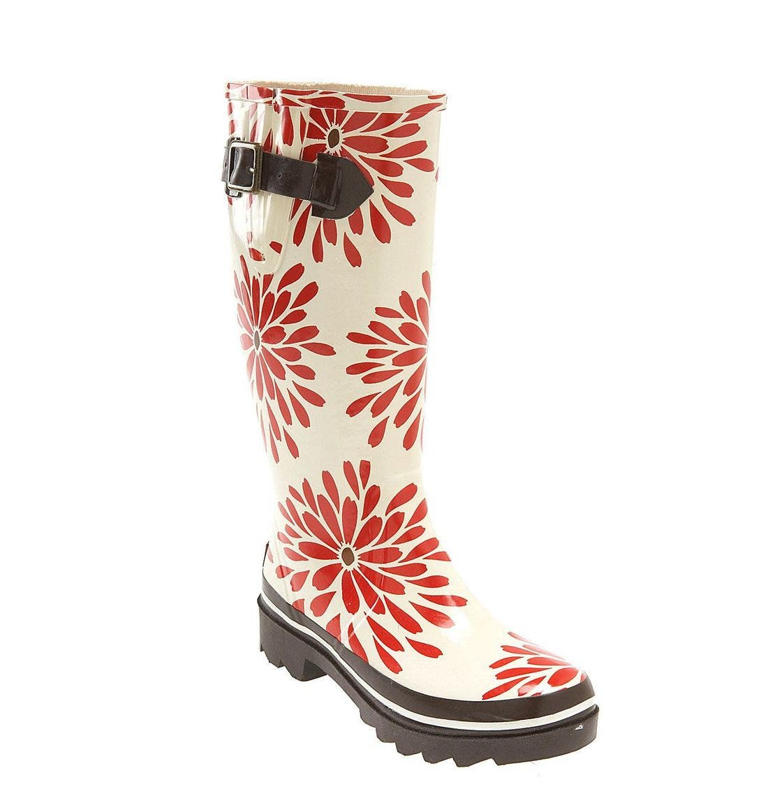 Alternate Image 1 Selected - kate spade 'riley' red daisy rain boot