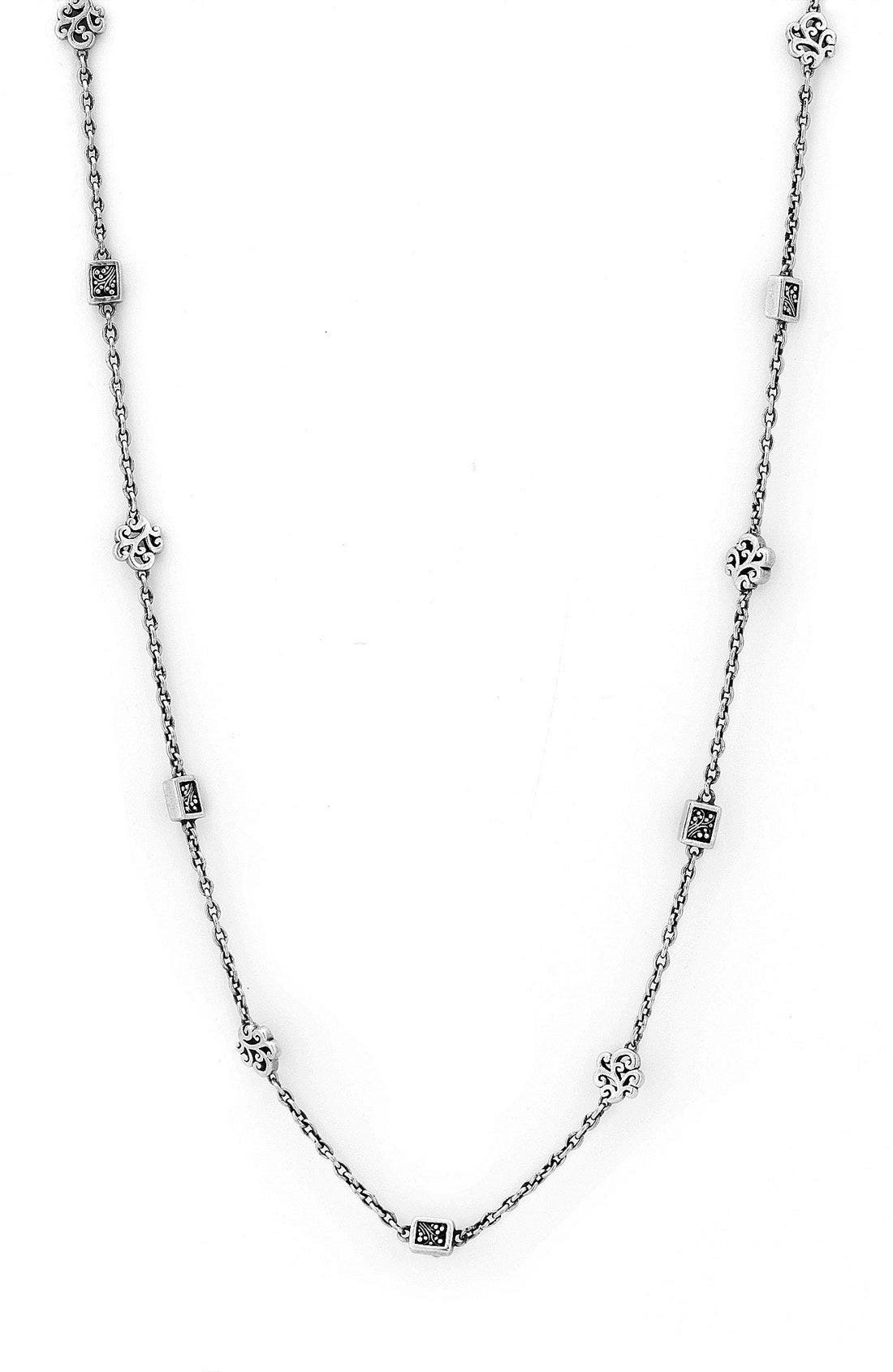Main Image - Lois Hill Cutout & Granulated Long Strand Necklace