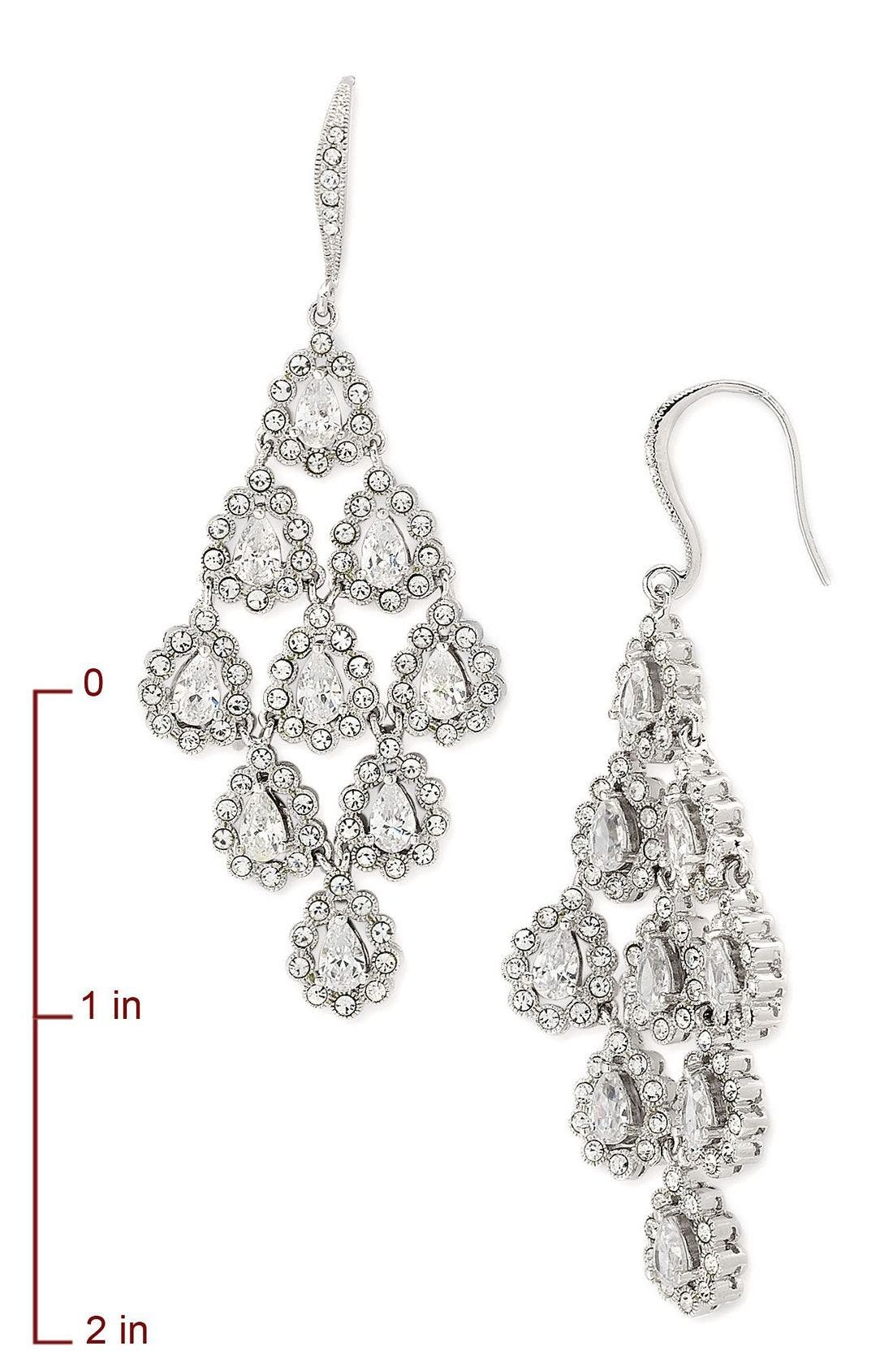 Alternate Image 2  - Nadri Tiered Chandelier Earrings