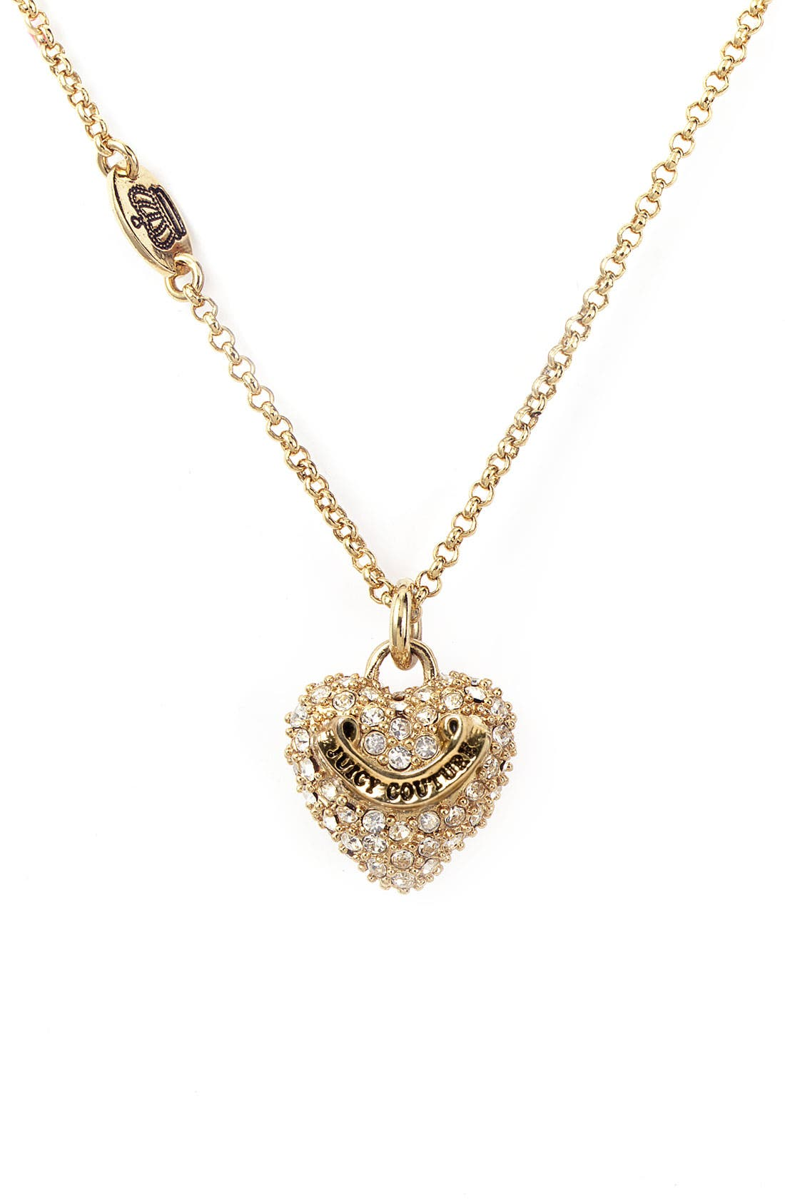 Alternate Image 1 Selected - Juicy Couture 'Wish - Heart' Necklace