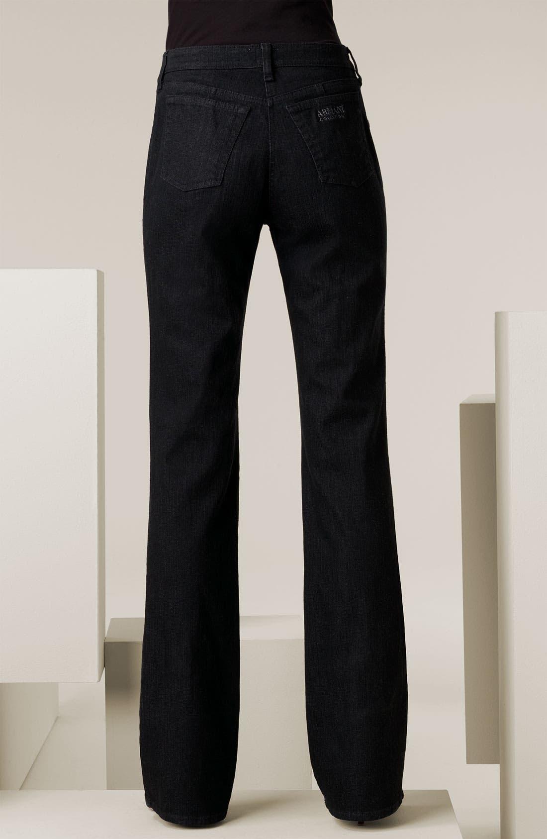 Alternate Image 2  - Armani Collezioni Classic Stretch Denim Jeans