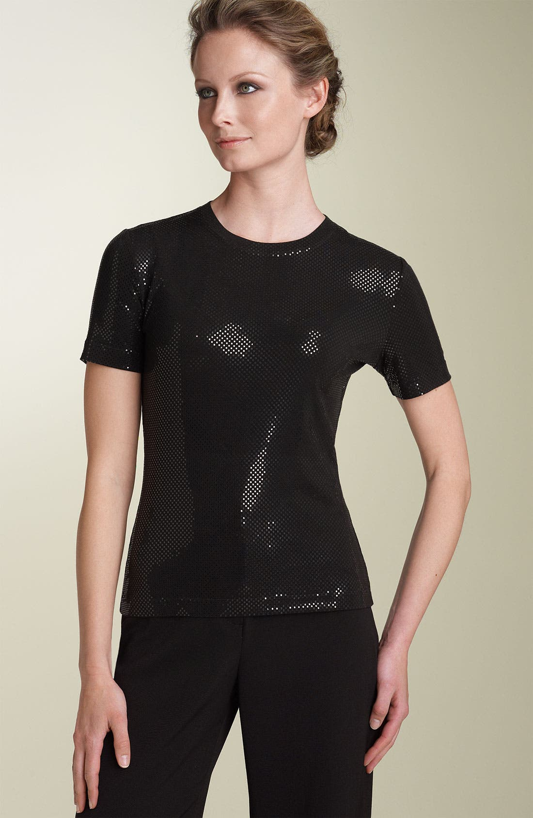 Main Image - St. John Collection Sequin Jersey Shell